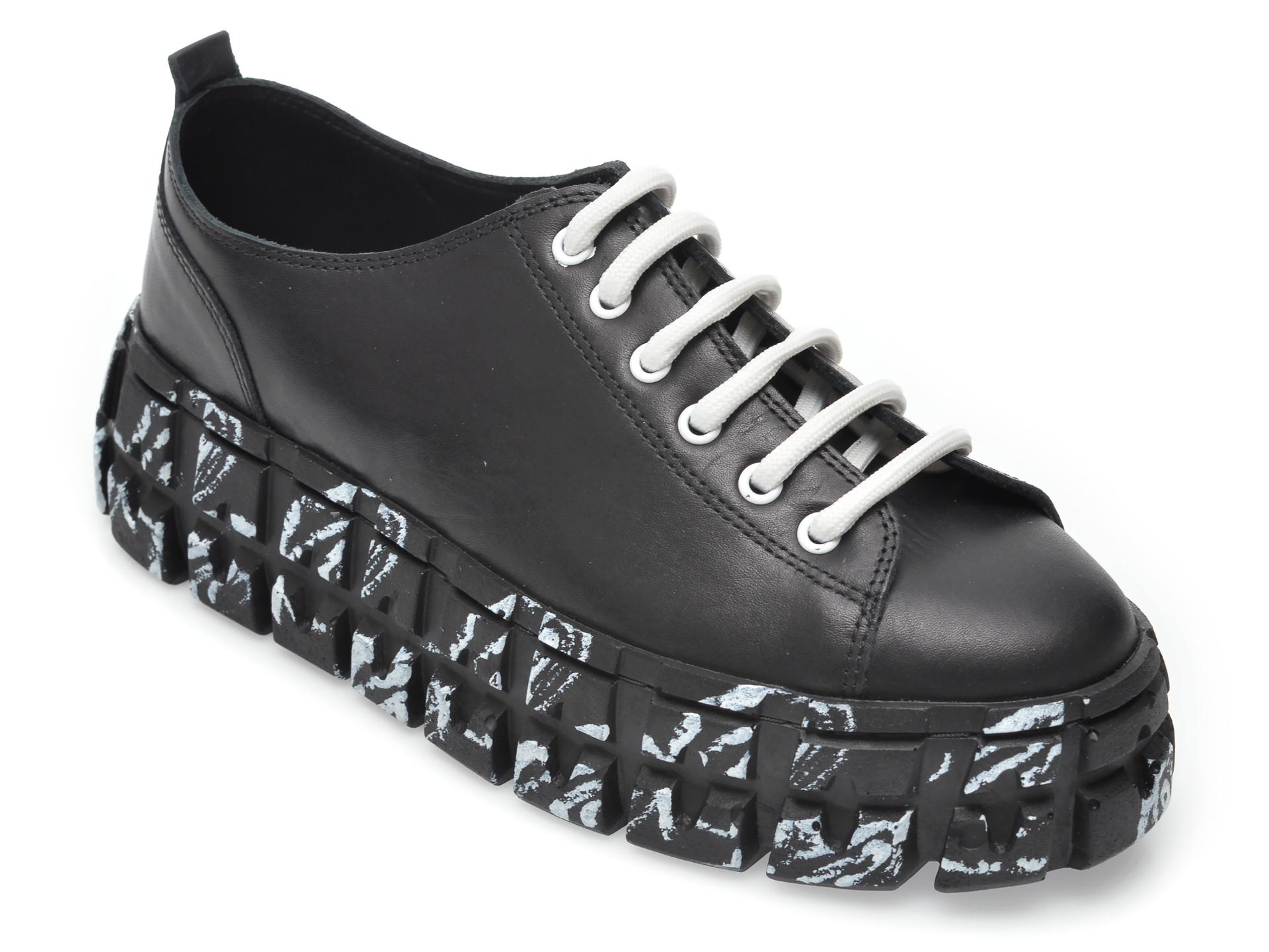 Pantofi FLAVIA PASSINI negri, 1022133, din piele naturala imagine otter.ro
