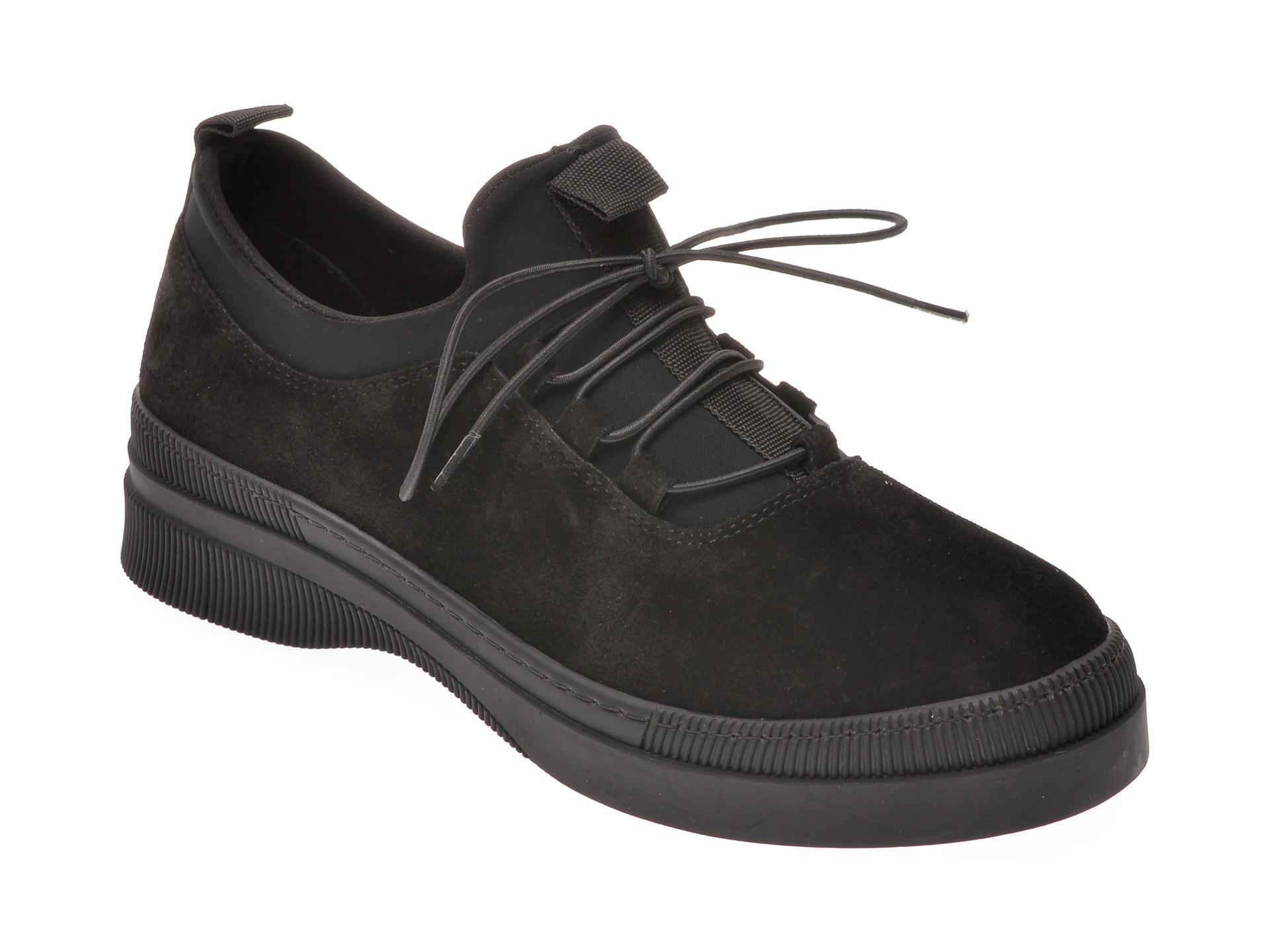 Pantofi FLAVIA PASSINI negri, 102315, din piele intoarsa imagine otter.ro 2021