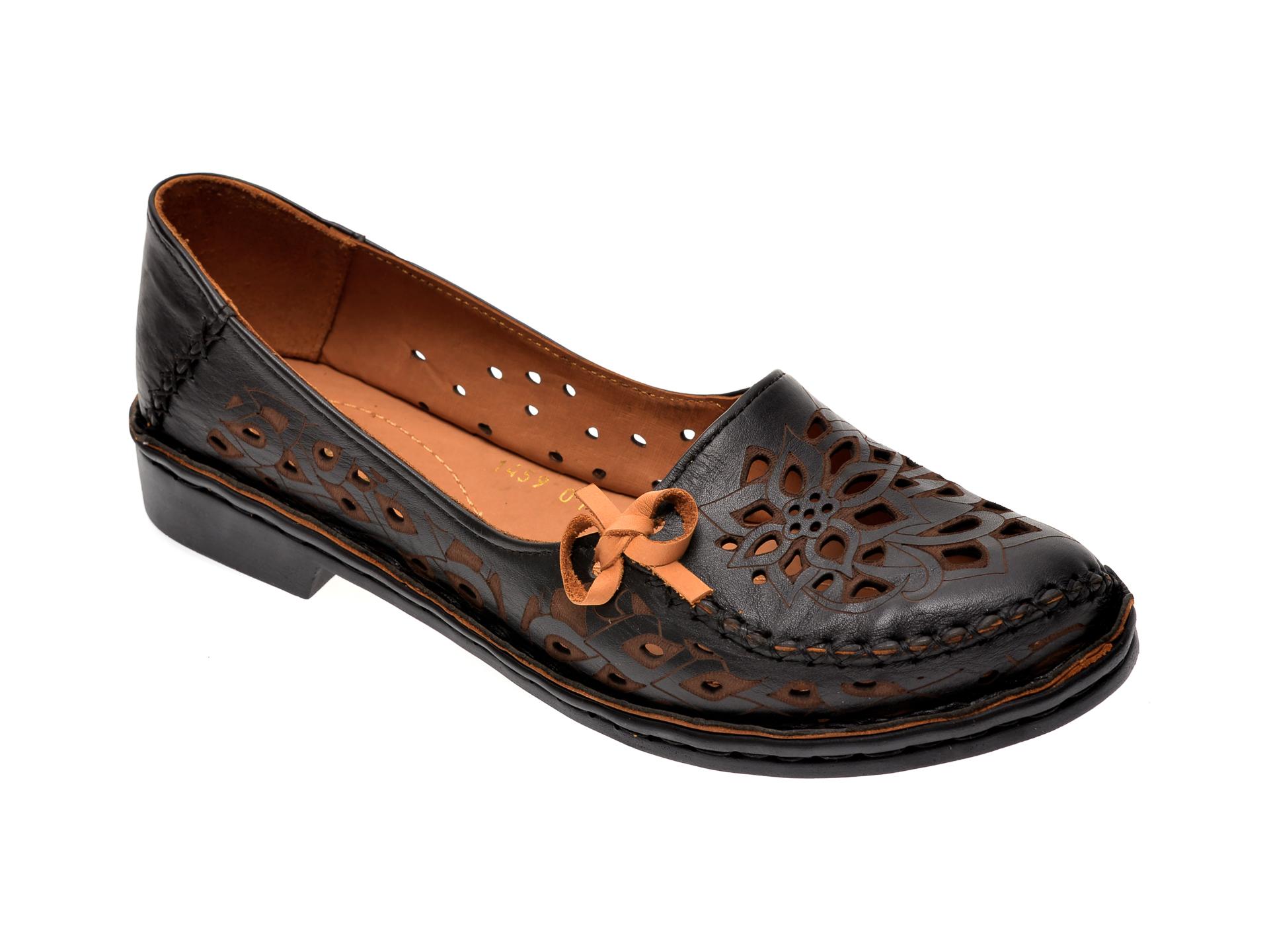 Pantofi FLAVIA PASSINI negri, 10410, din piele naturala