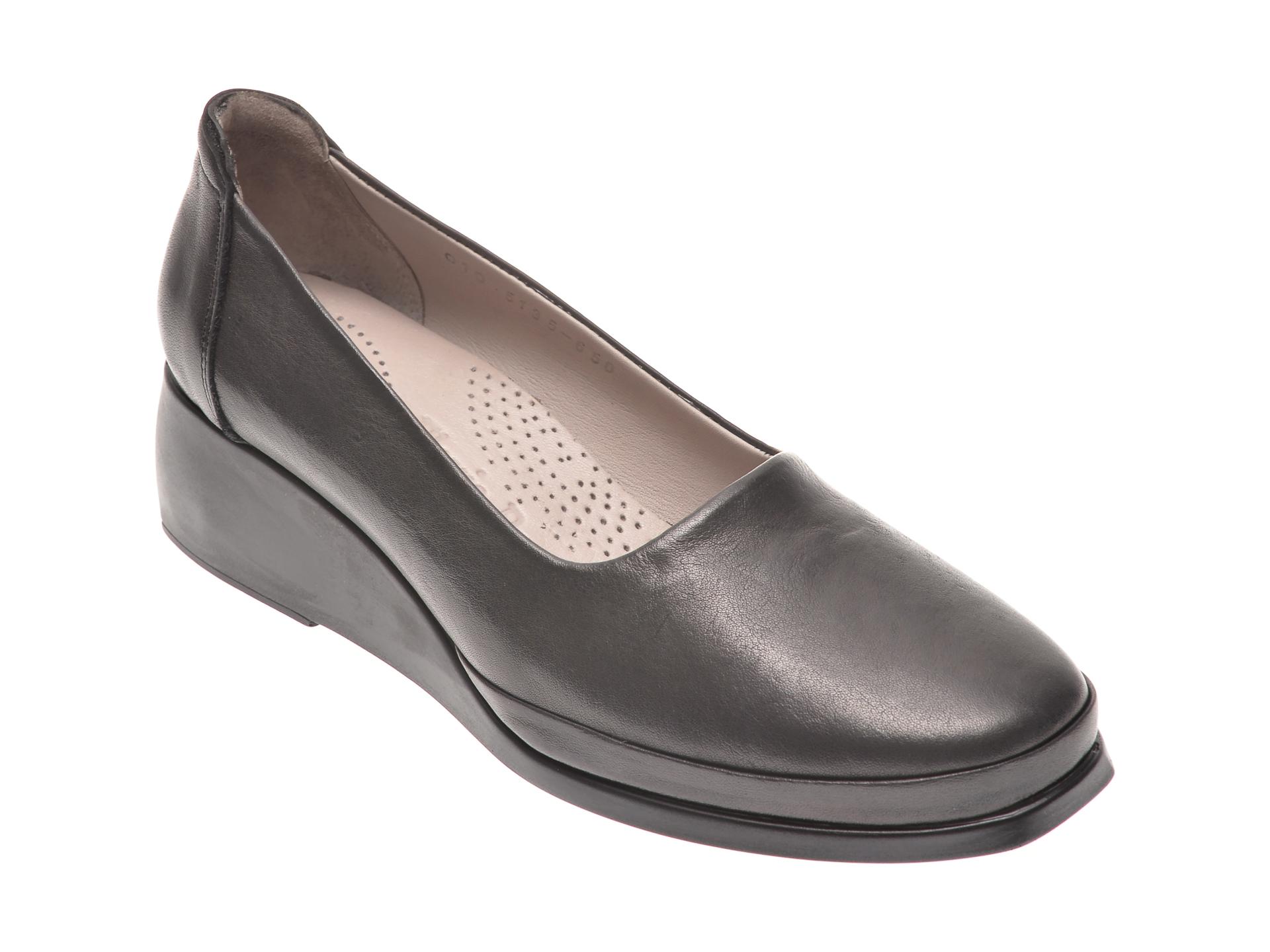 Pantofi FLAVIA PASSINI negri, 105135, din piele naturala imagine