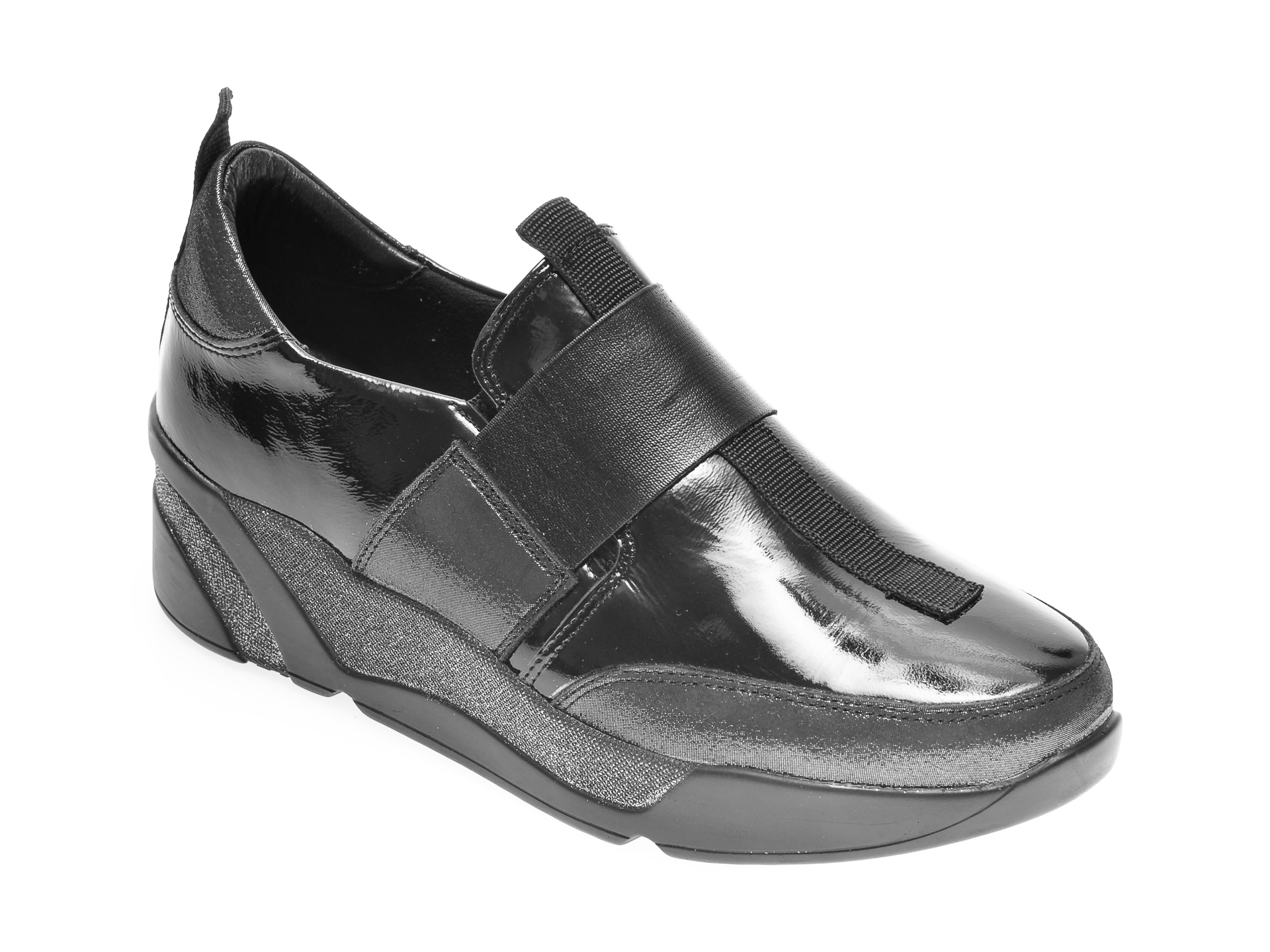 Pantofi FLAVIA PASSINI negri, 111855, din piele naturala lacuita imagine