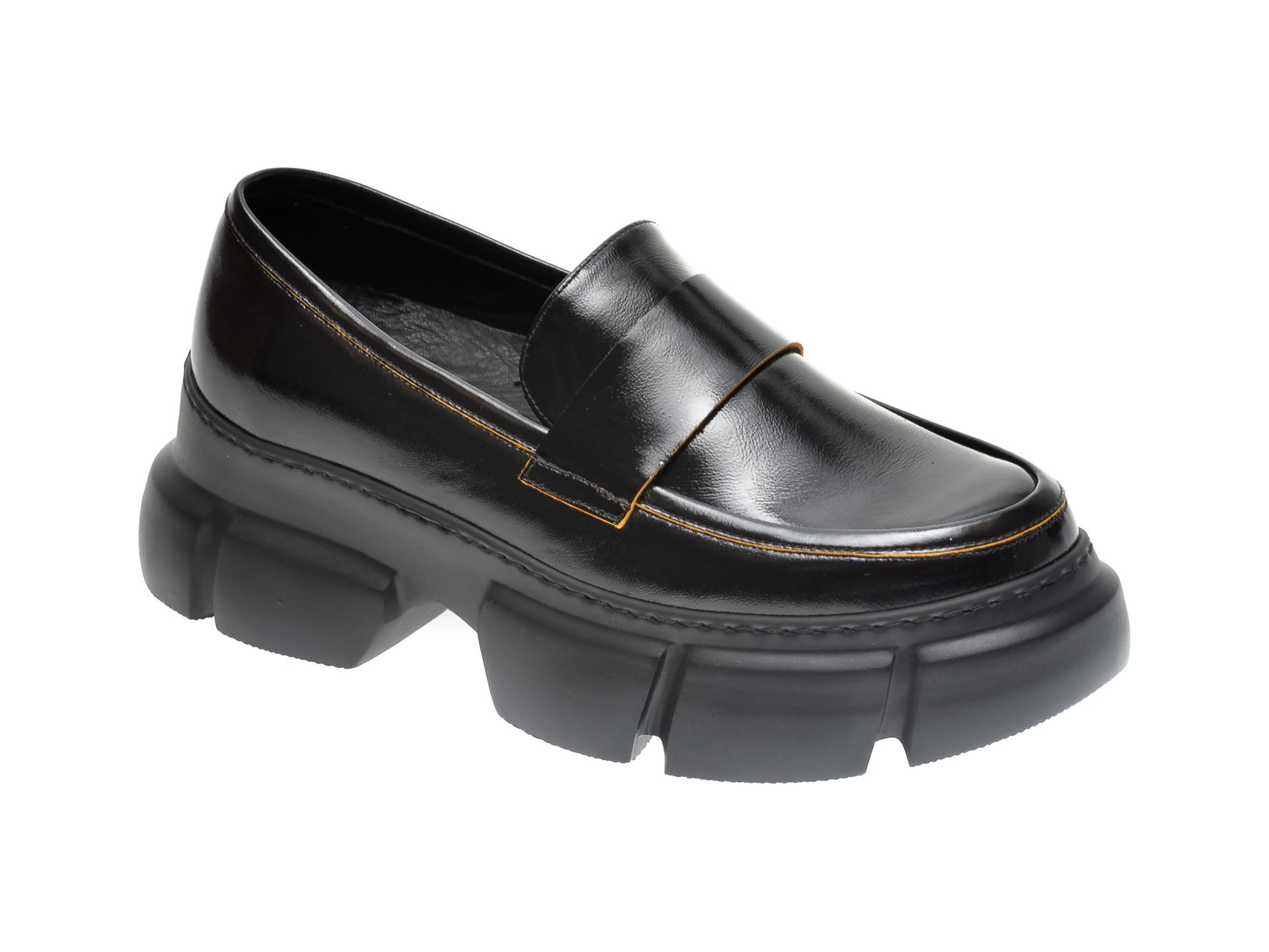 Pantofi FLAVIA PASSINI negri, 1185341, din piele naturala lacuita imagine
