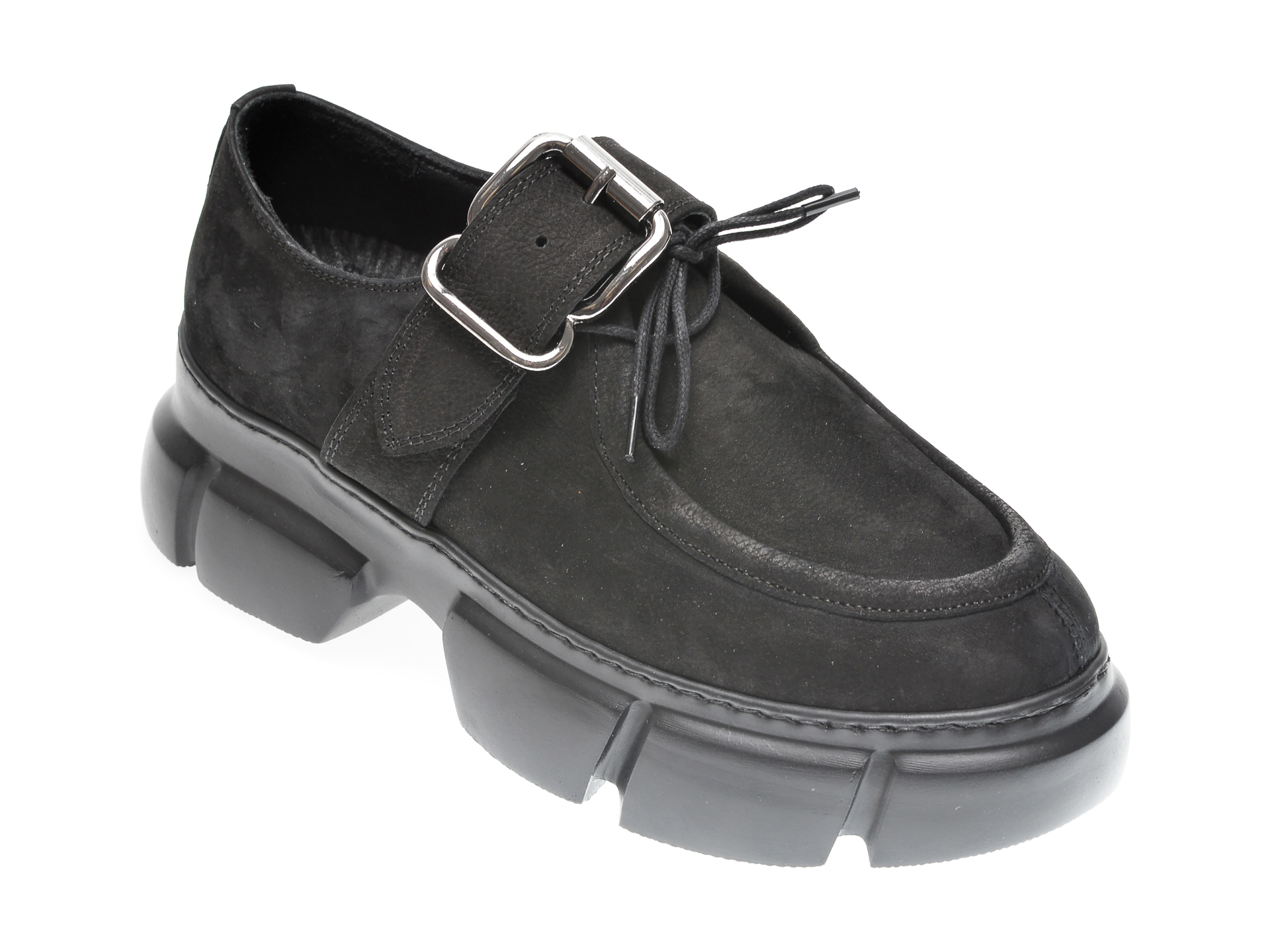Pantofi FLAVIA PASSINI negri, 1185342, din nabuc imagine