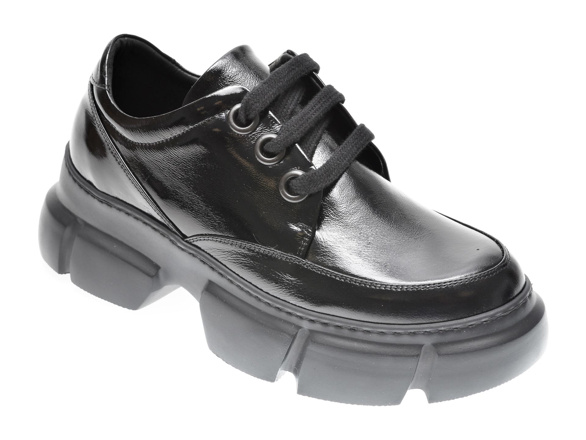 Pantofi FLAVIA PASSINI negri, 1185436, din piele naturala lacuita imagine