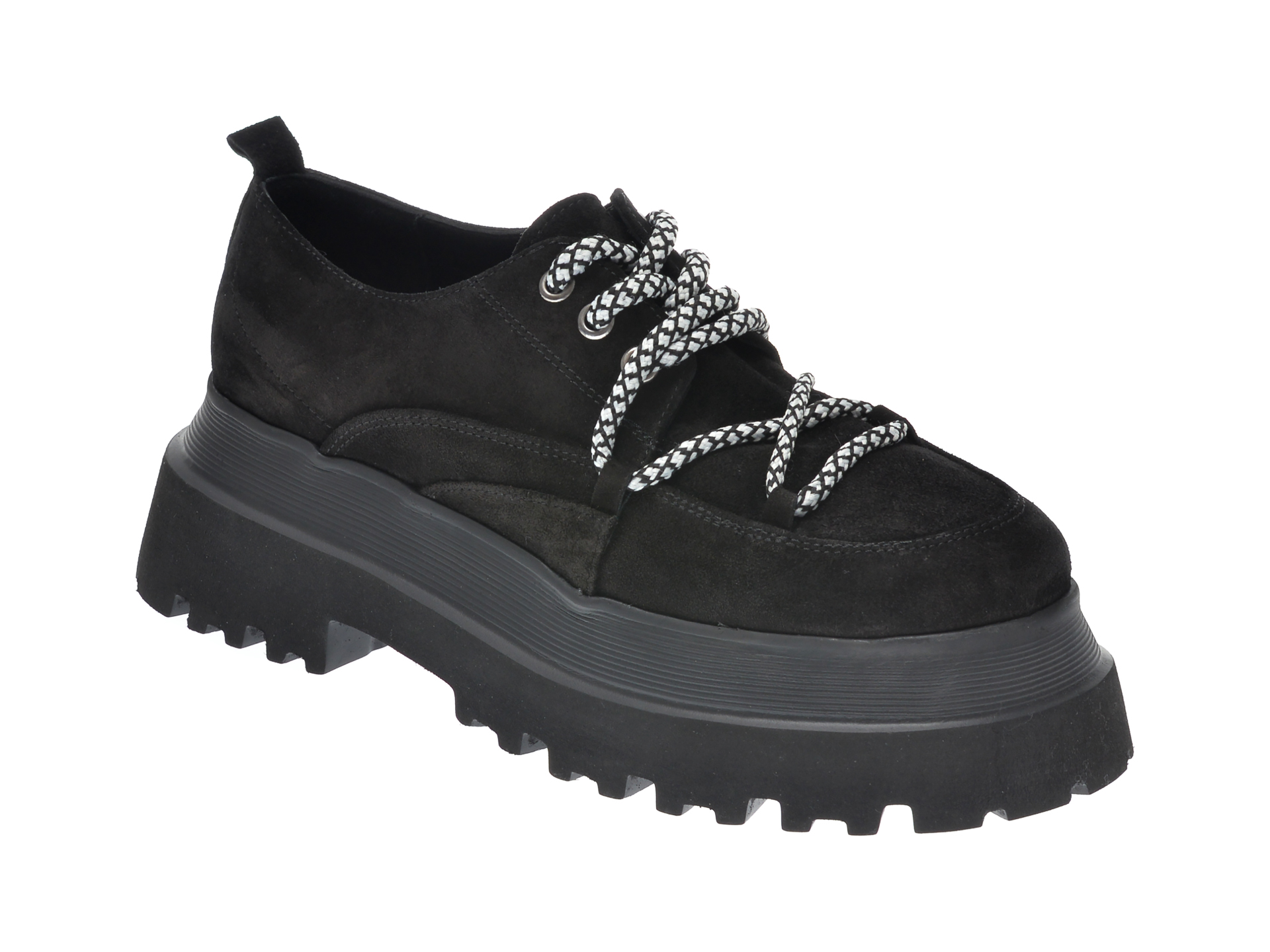 Pantofi FLAVIA PASSINI negri, 11903, din piele intoarsa imagine
