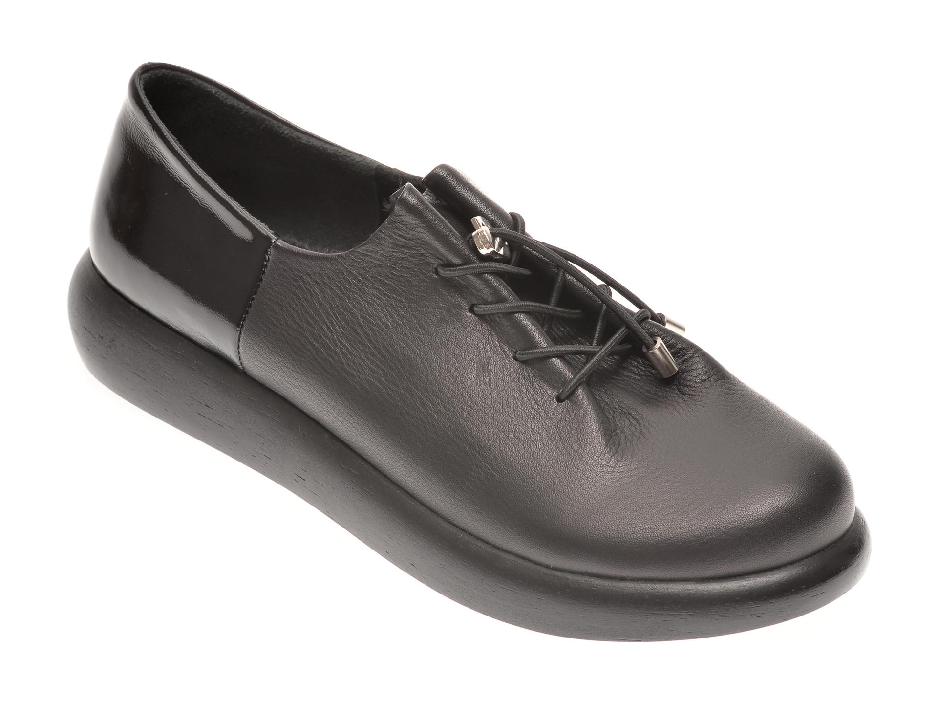 Pantofi FLAVIA PASSINI negri, 12404, din piele naturala imagine otter.ro