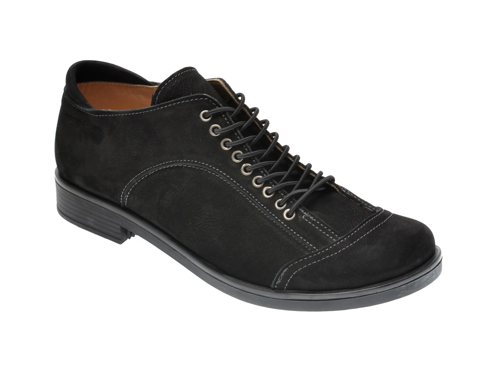 Pantofi FLAVIA PASSINI negri, 1243852, din nabuc imagine