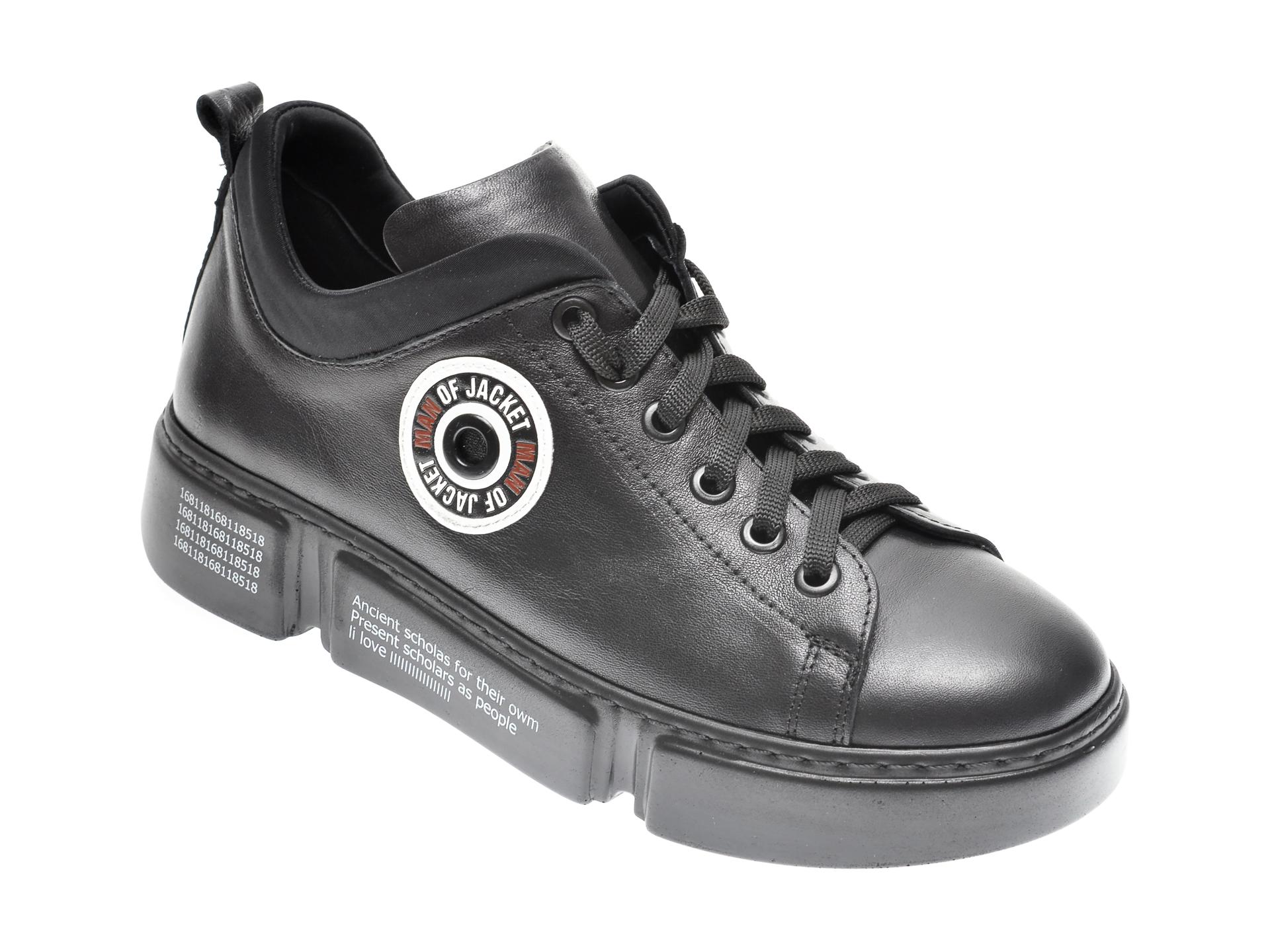 Pantofi FLAVIA PASSINI negri, 12510, din piele naturala imagine