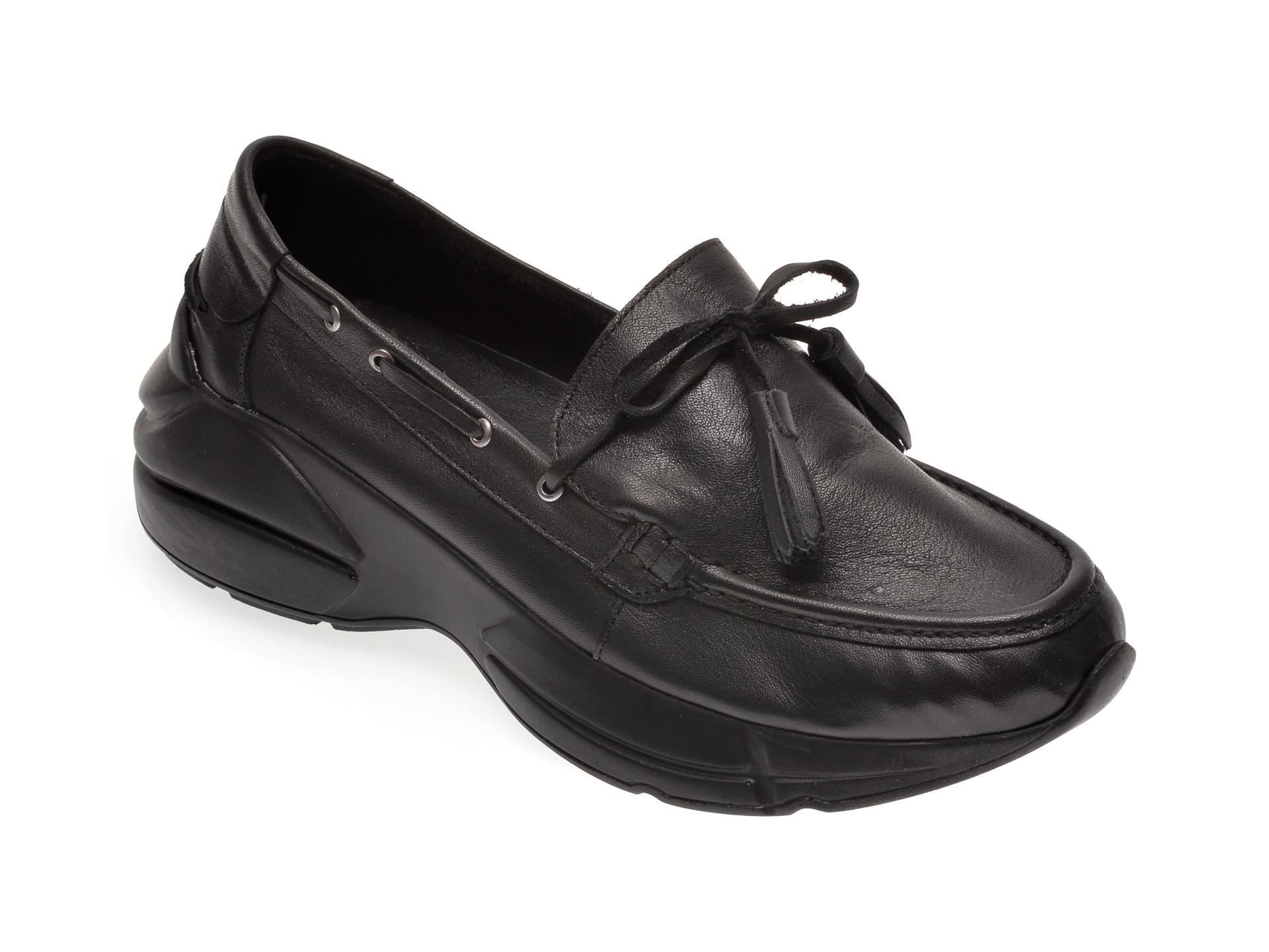 Pantofi FLAVIA PASSINI negri, 1252015, din piele naturala