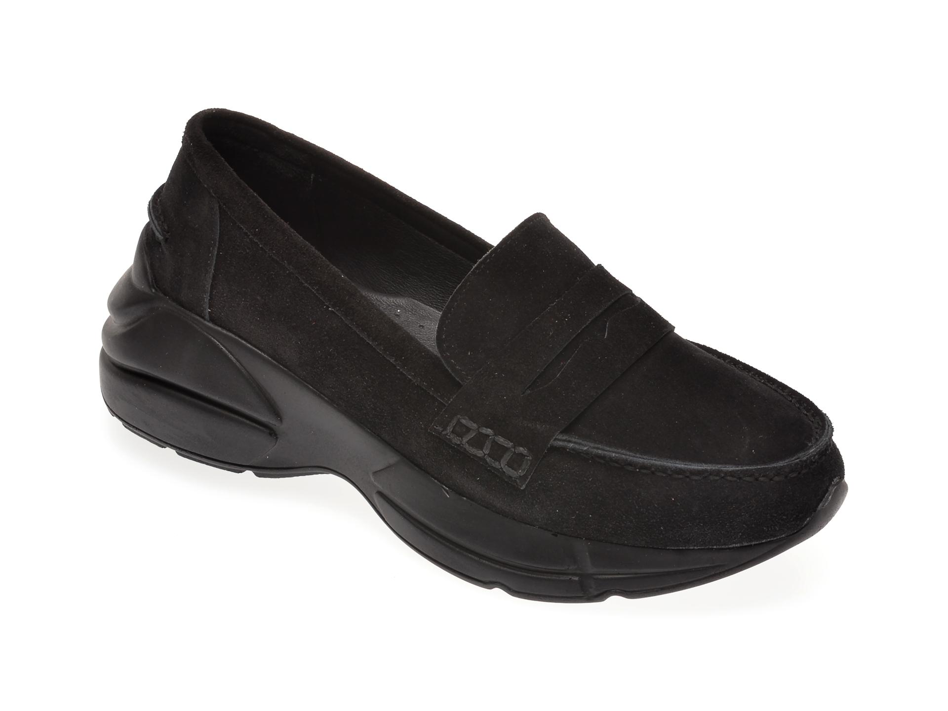 Pantofi FLAVIA PASSINI negri, 125951, din piele intoarsa