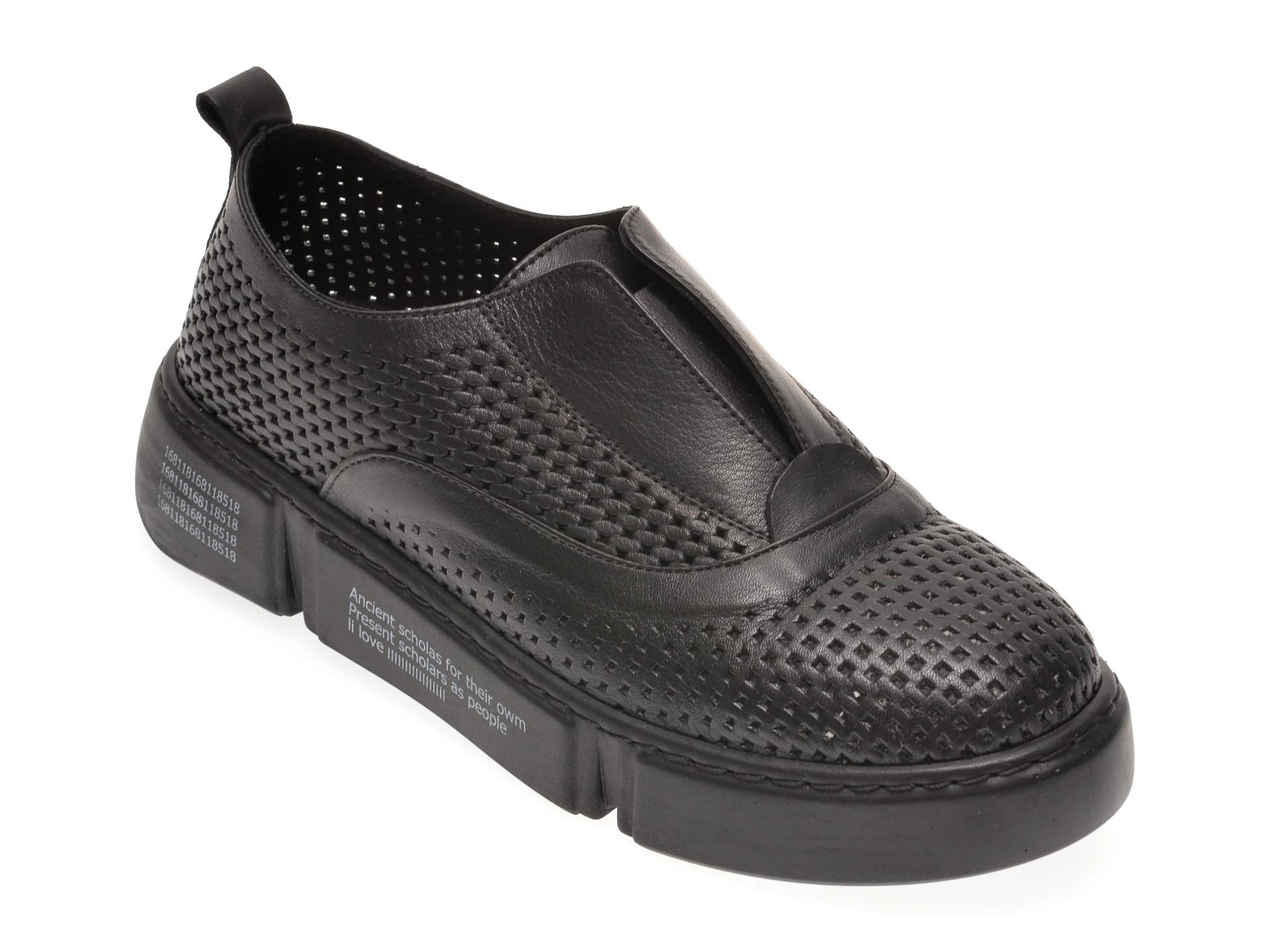Pantofi FLAVIA PASSINI negri, 125994Z, din piele naturala