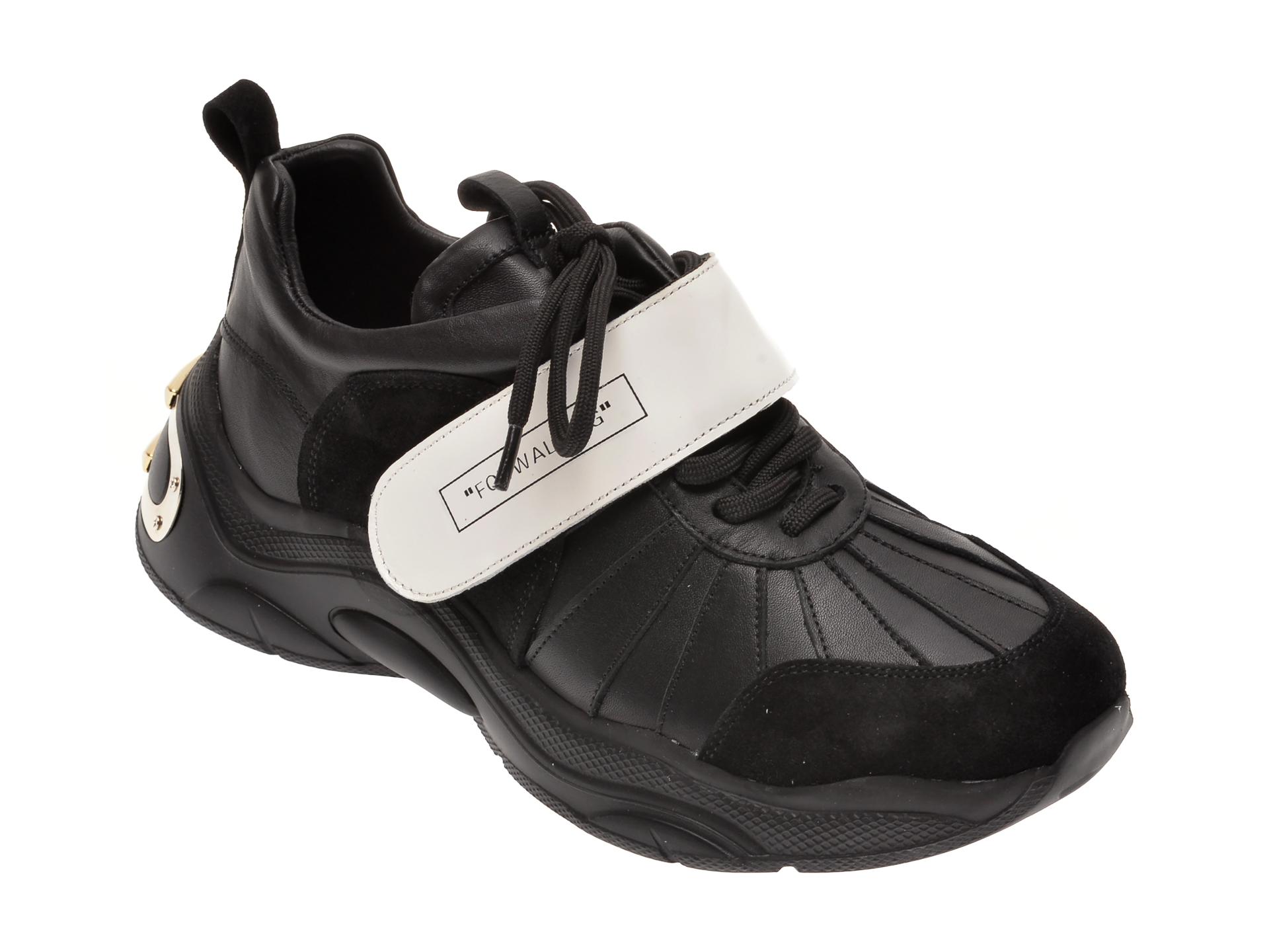Pantofi FLAVIA PASSINI negri, 135P26, din piele naturala imagine