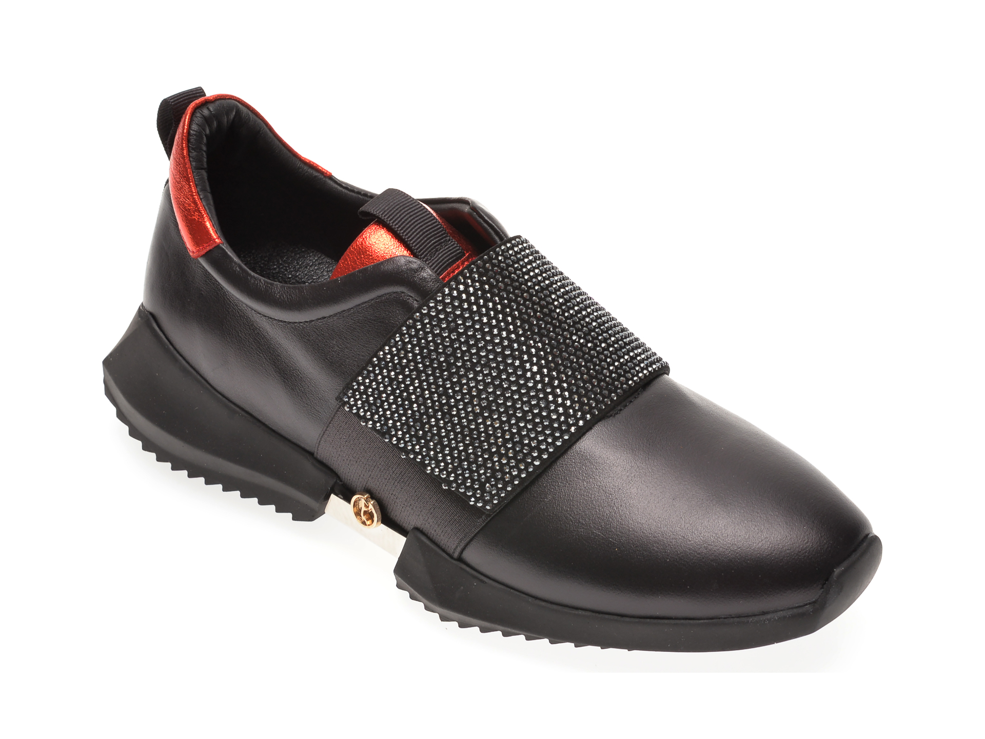 Pantofi FLAVIA PASSINI negri, 135P39, din piele naturala