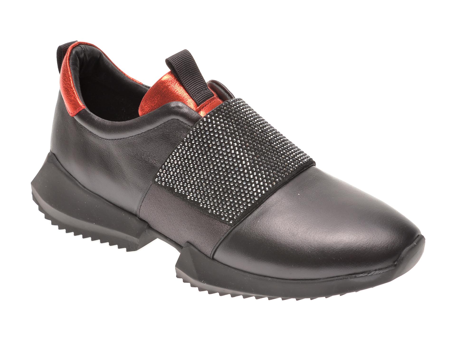 Pantofi FLAVIA PASSINI negri, 135P68, din piele naturala