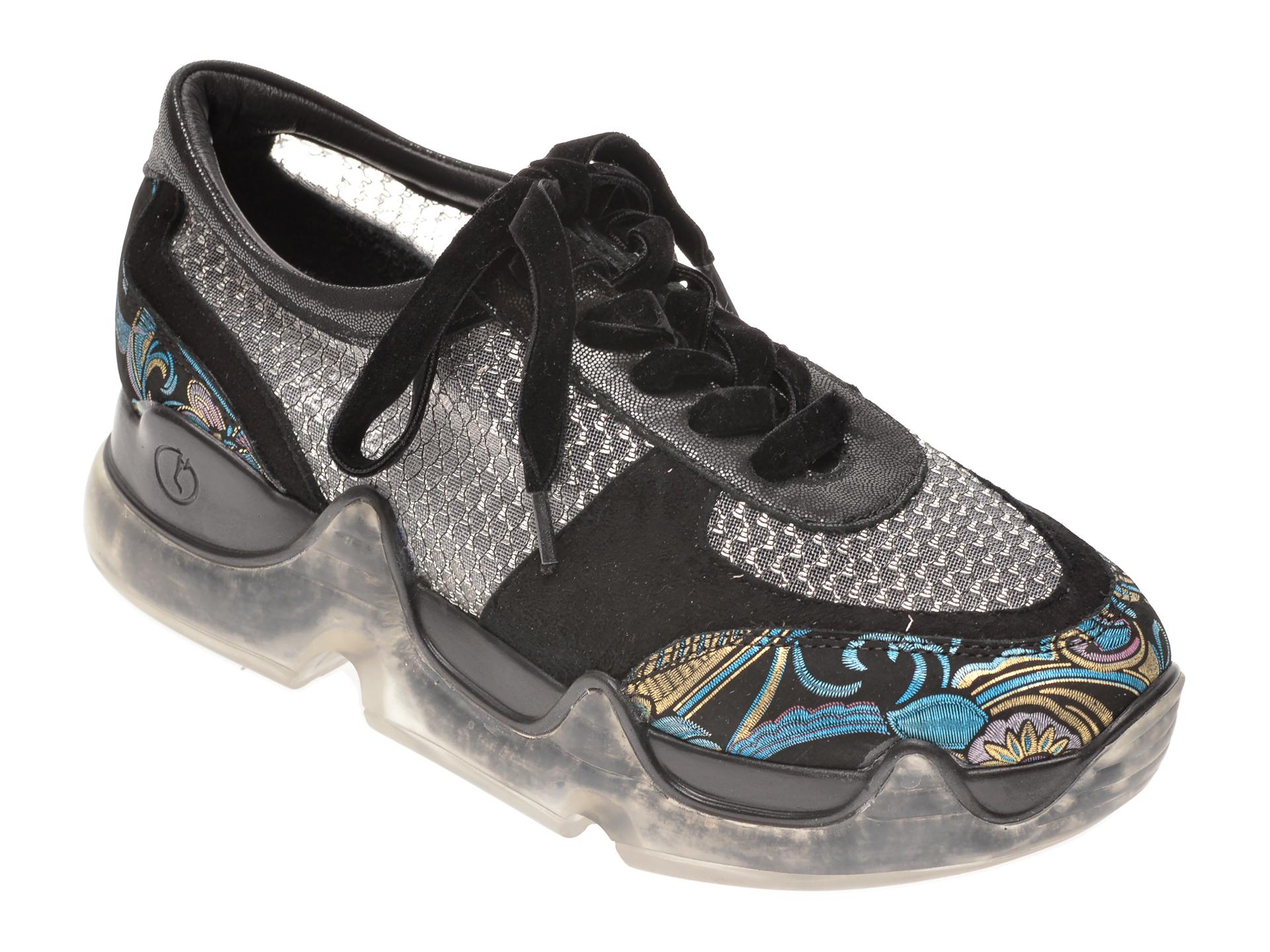 Pantofi FLAVIA PASSINI negri, 135P93, din piele naturala imagine