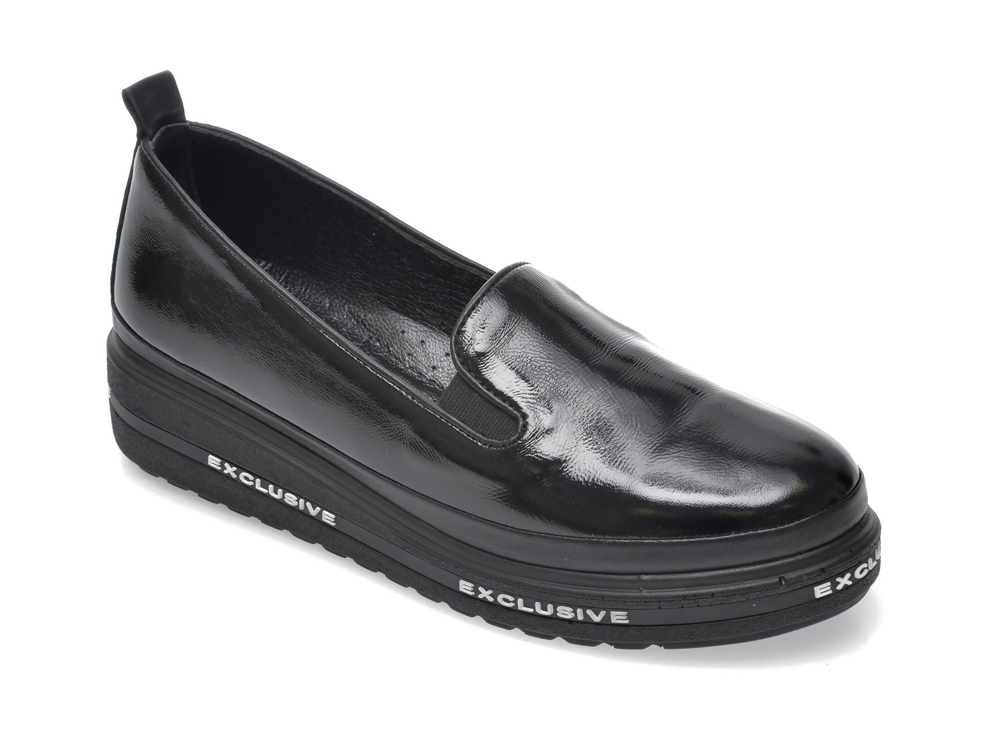 Pantofi FLAVIA PASSINI negri, 1471458, din piele naturala lacuita New