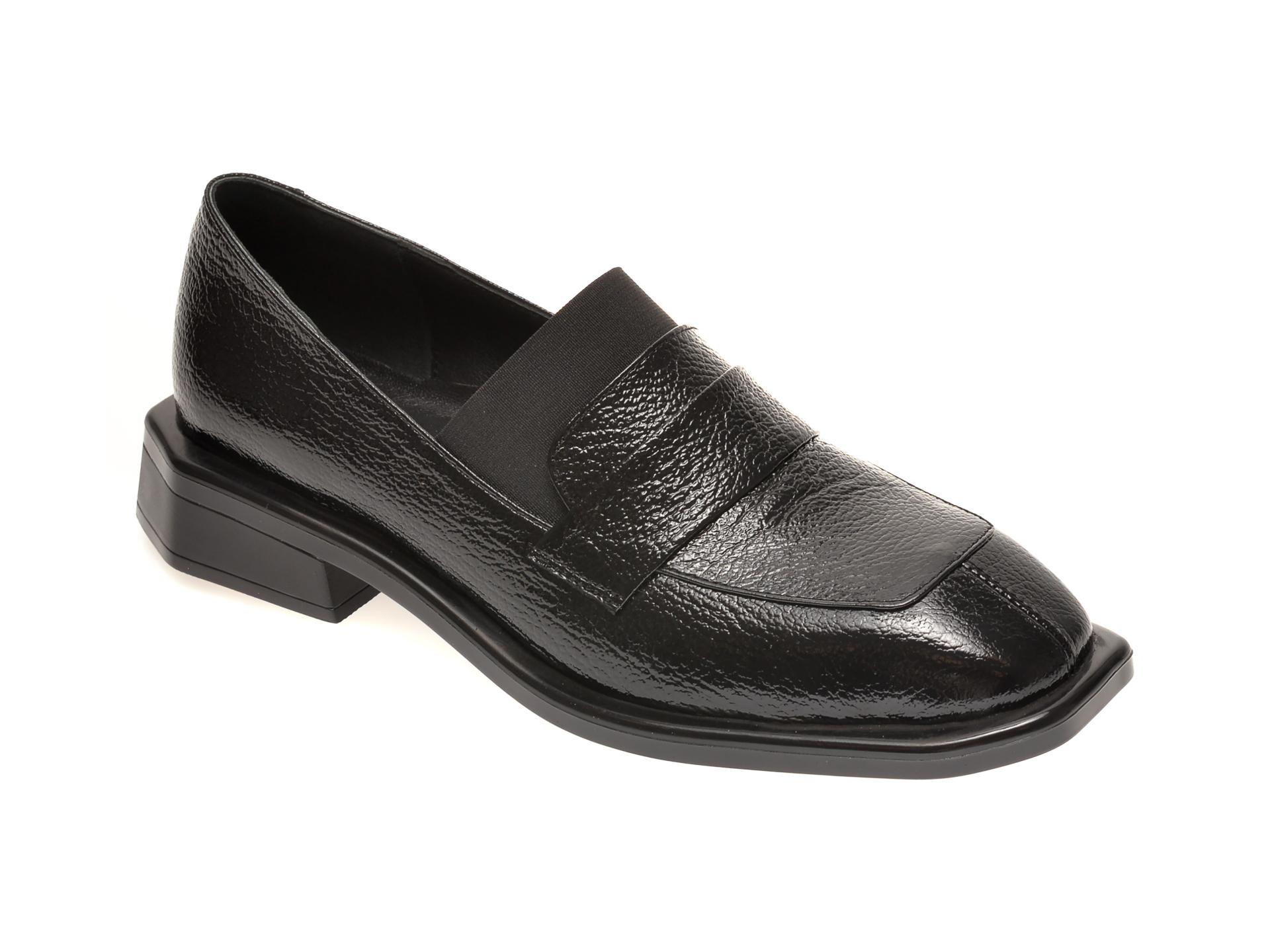 Pantofi FLAVIA PASSINI negri, 1581309, din piele naturala lacuita