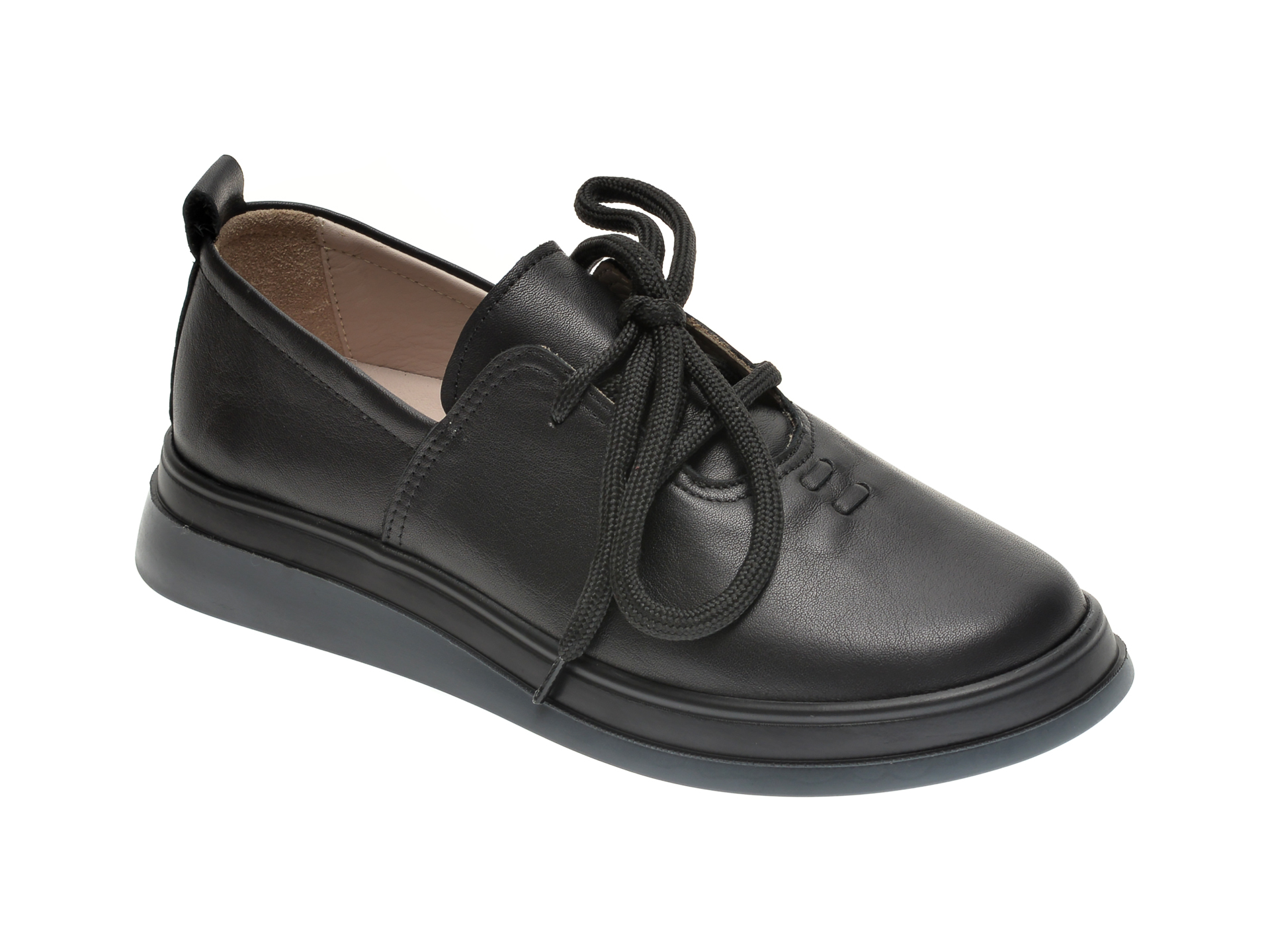 Pantofi FLAVIA PASSINI negri, 159898, din piele naturala imagine