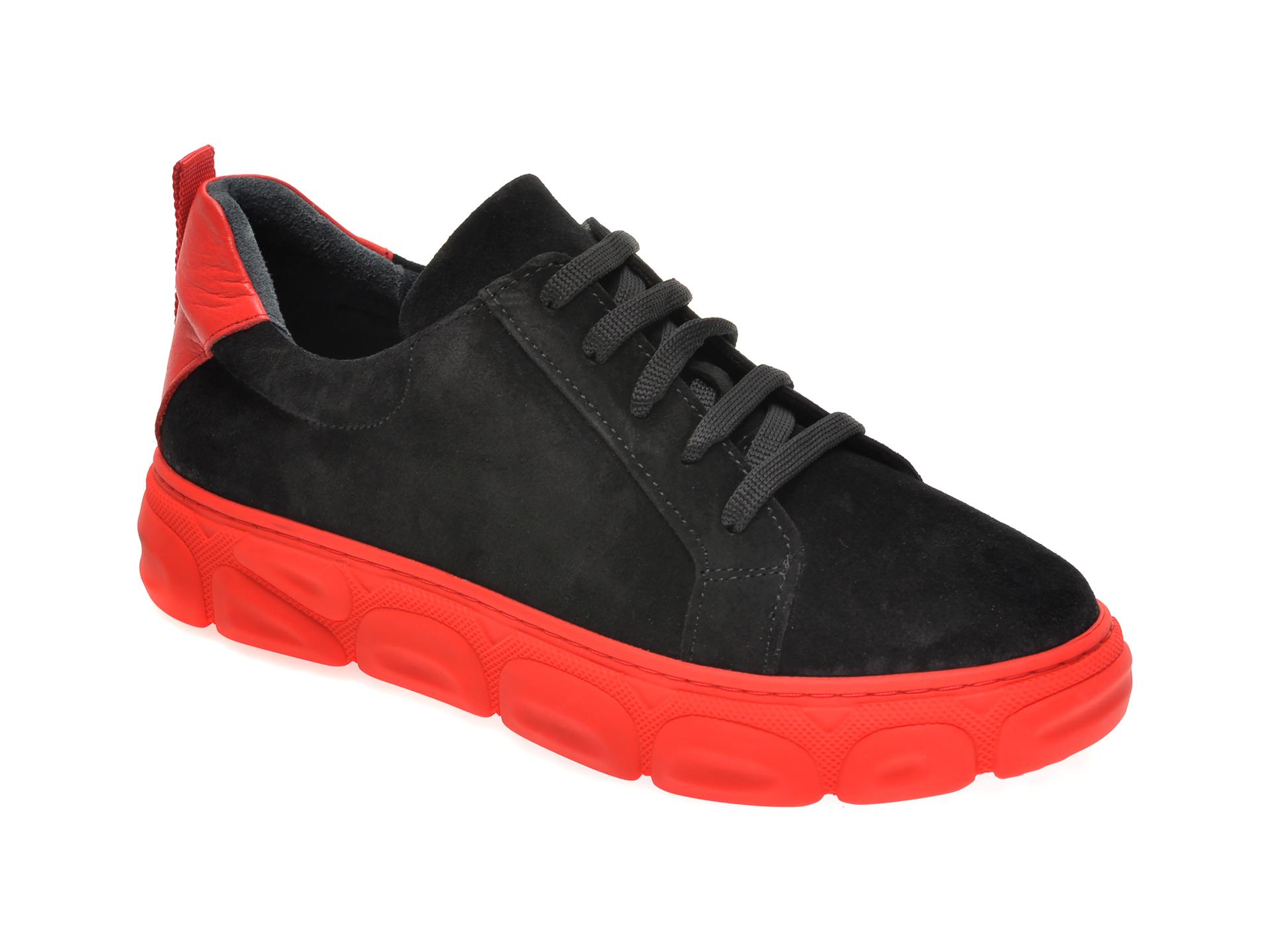 Pantofi FLAVIA PASSINI negri, 1614412, din piele intoarsa
