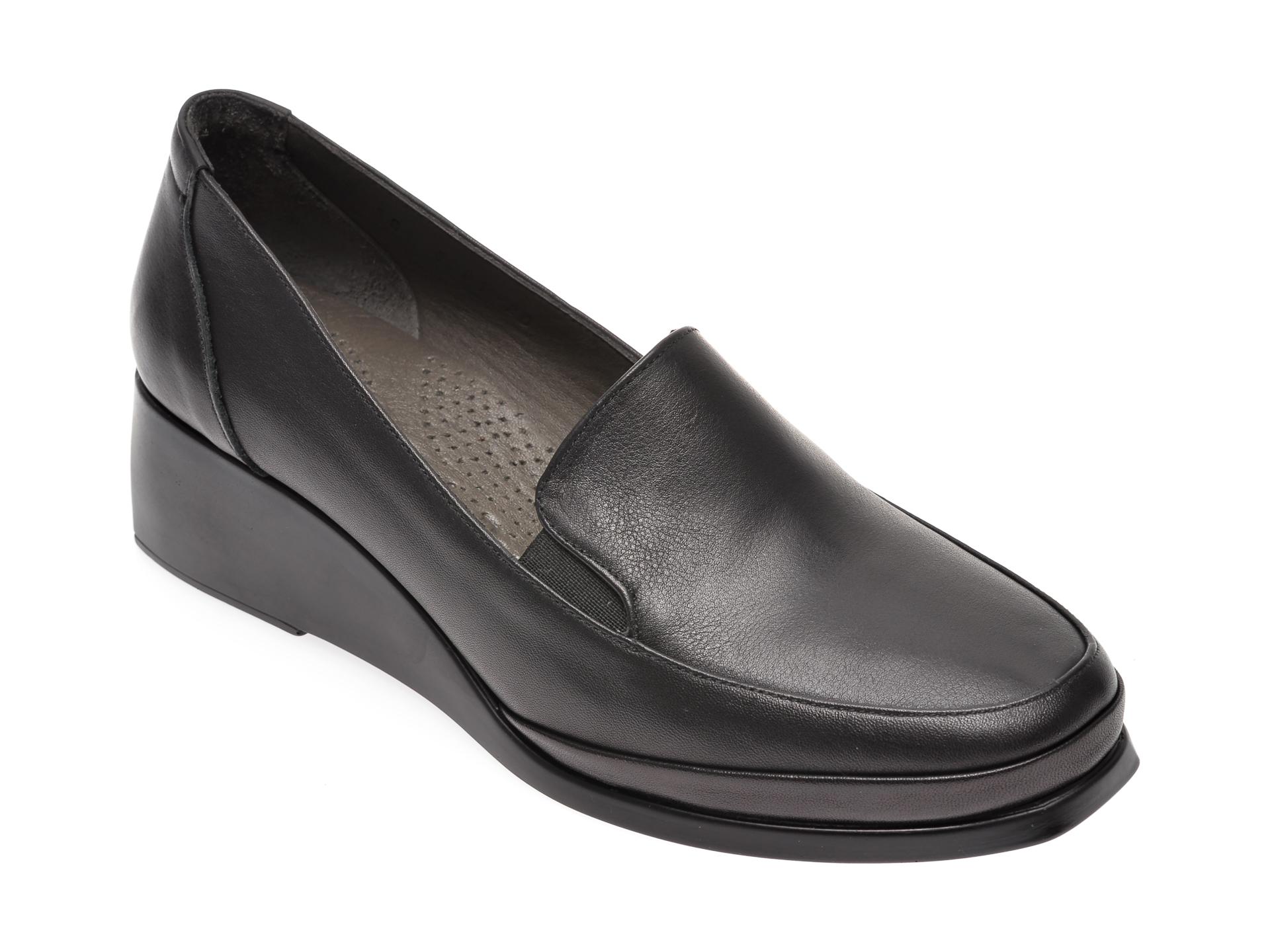 Pantofi FLAVIA PASSINI negri, 1915091, din piele naturala imagine