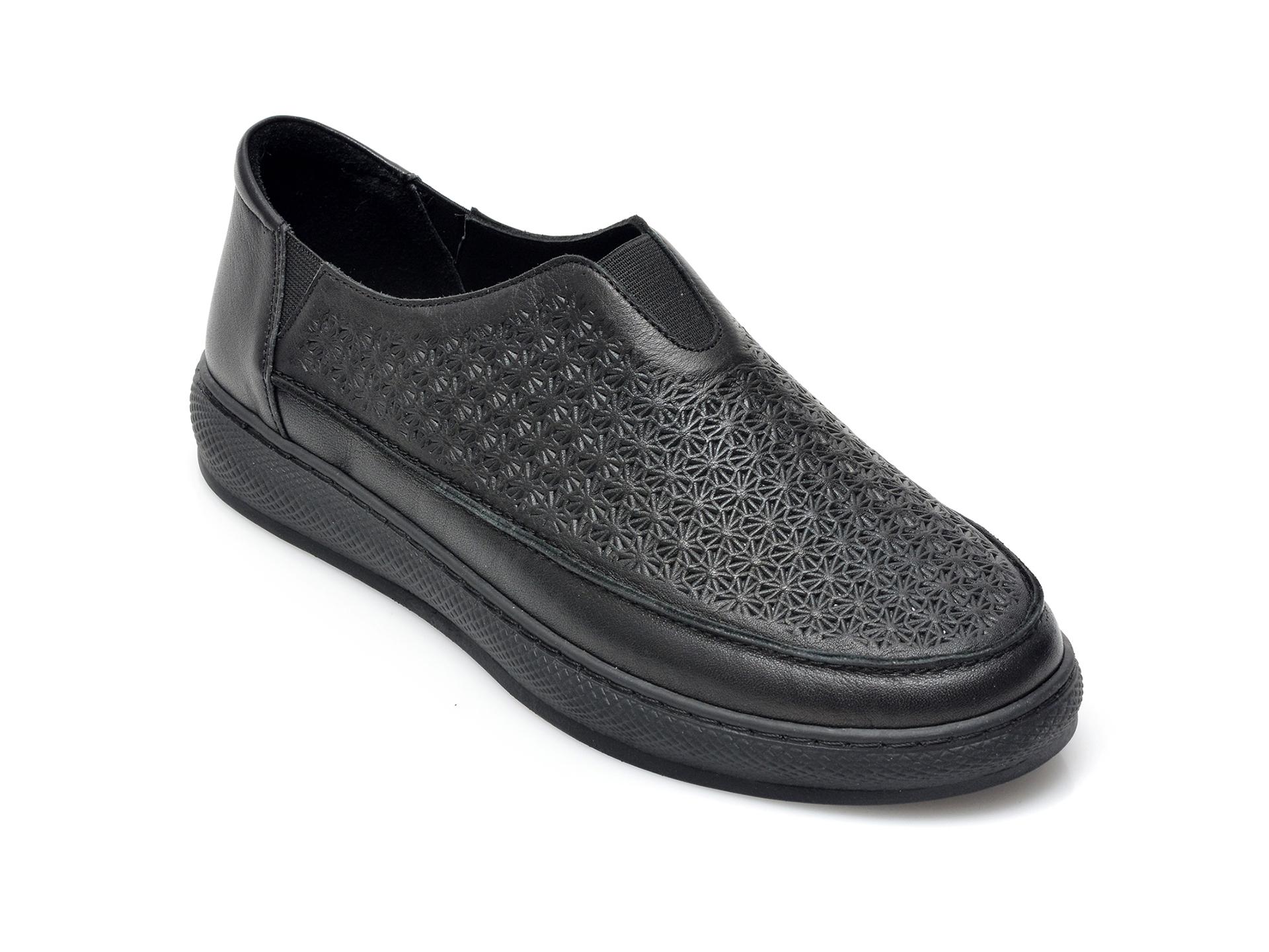 Pantofi FLAVIA PASSINI negri, 193SP84, din piele naturala imagine otter.ro 2021