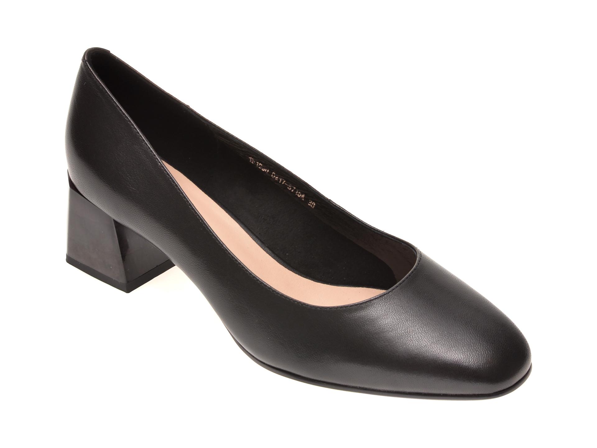 Pantofi FLAVIA PASSINI negri, 1F15021, din piele naturala imagine otter.ro