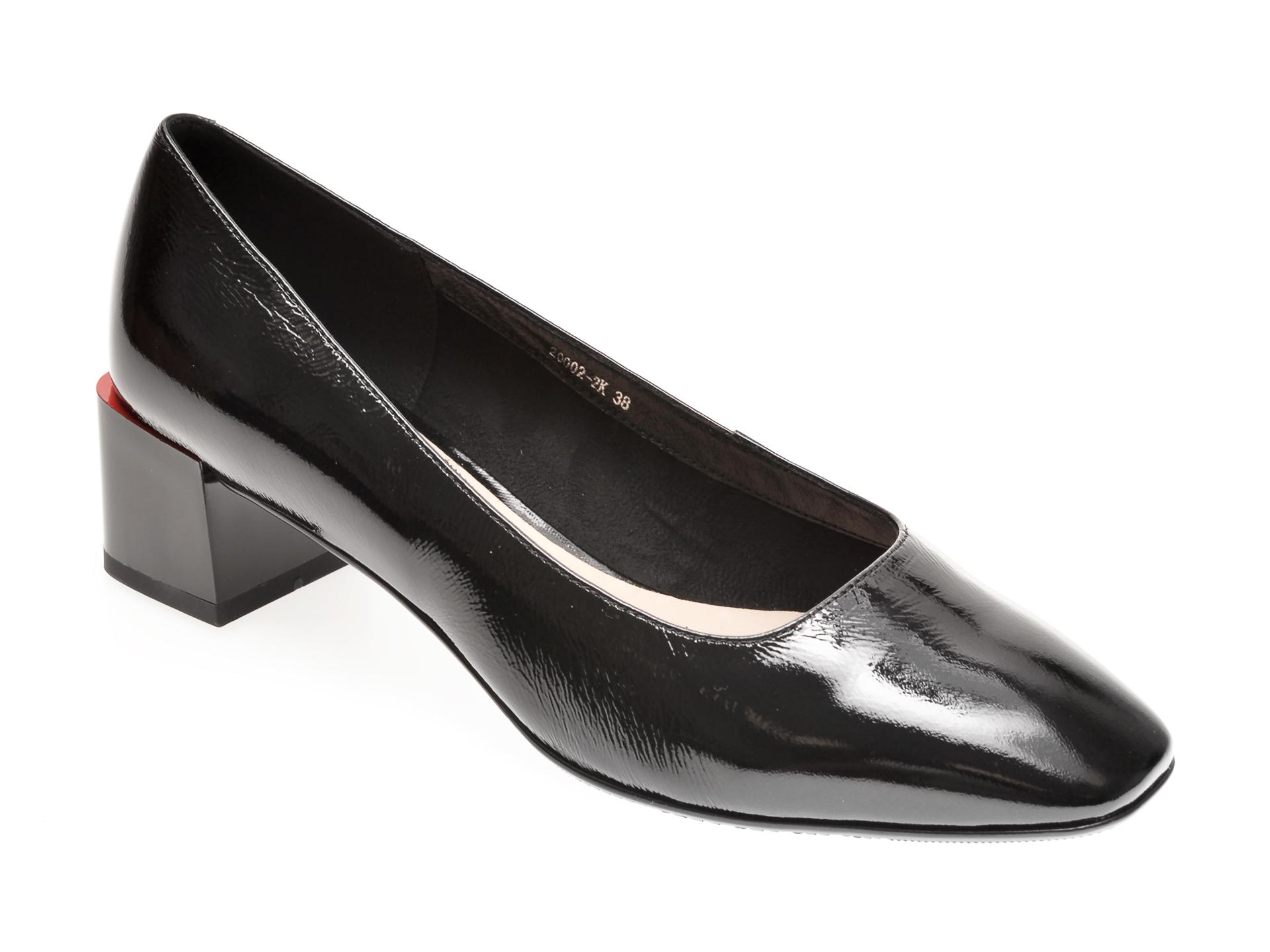 Pantofi FLAVIA PASSINI negri, 200022K, din piele naturala lacuita