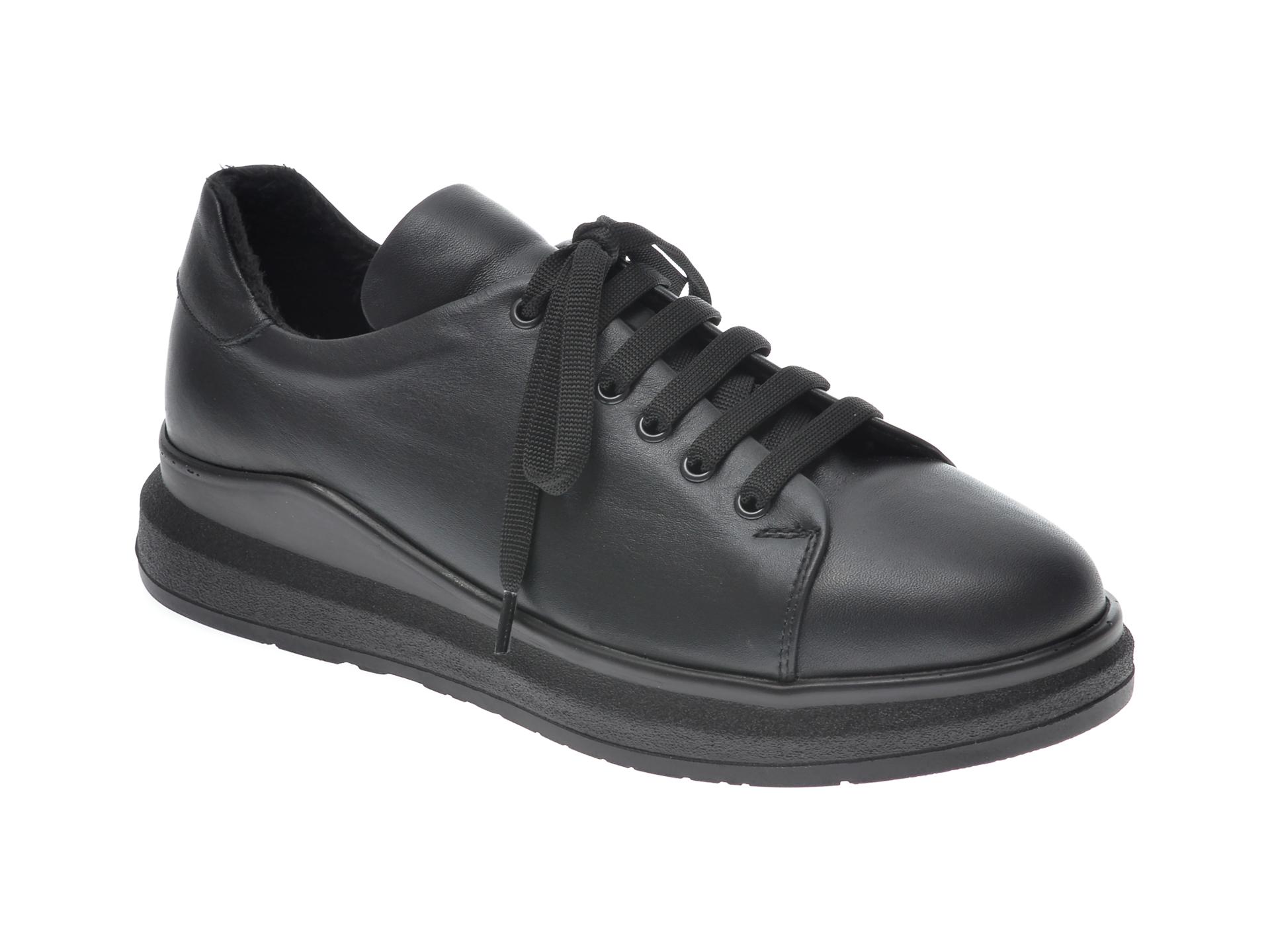 Pantofi FLAVIA PASSINI negri, 21612, din nabuc imagine