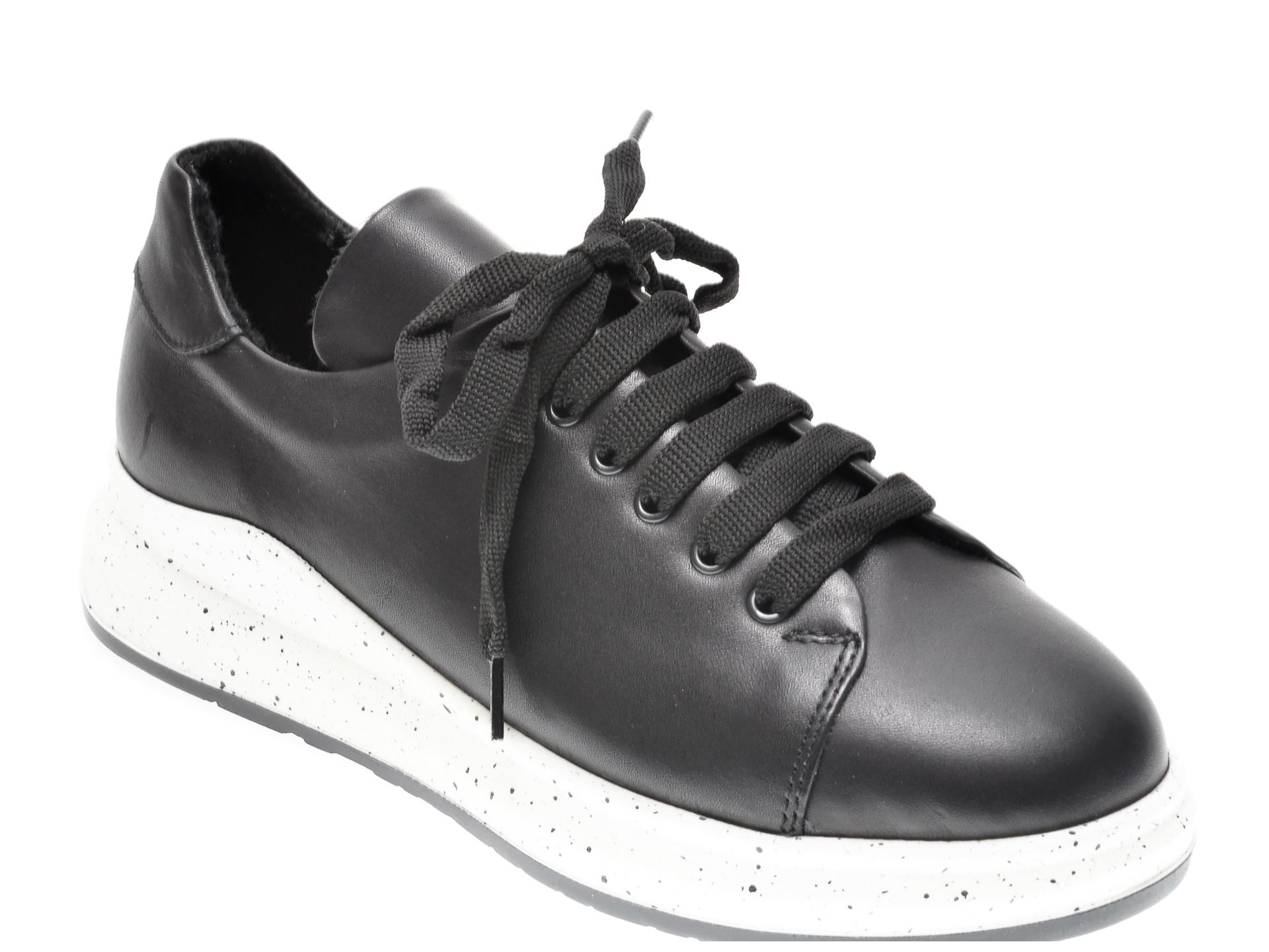 Pantofi FLAVIA PASSINI negri, 21612, din piele naturala imagine