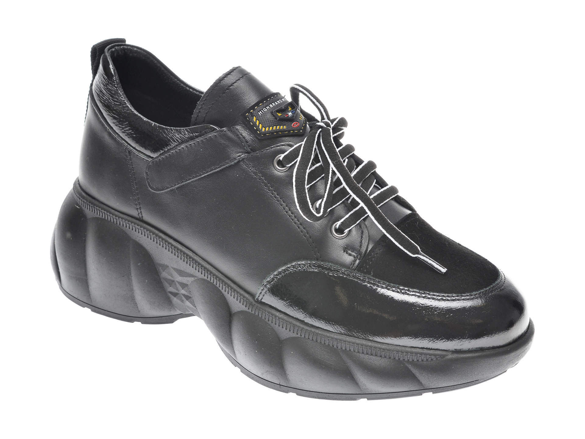 Pantofi FLAVIA PASSINI negri, 221372, din piele naturala imagine