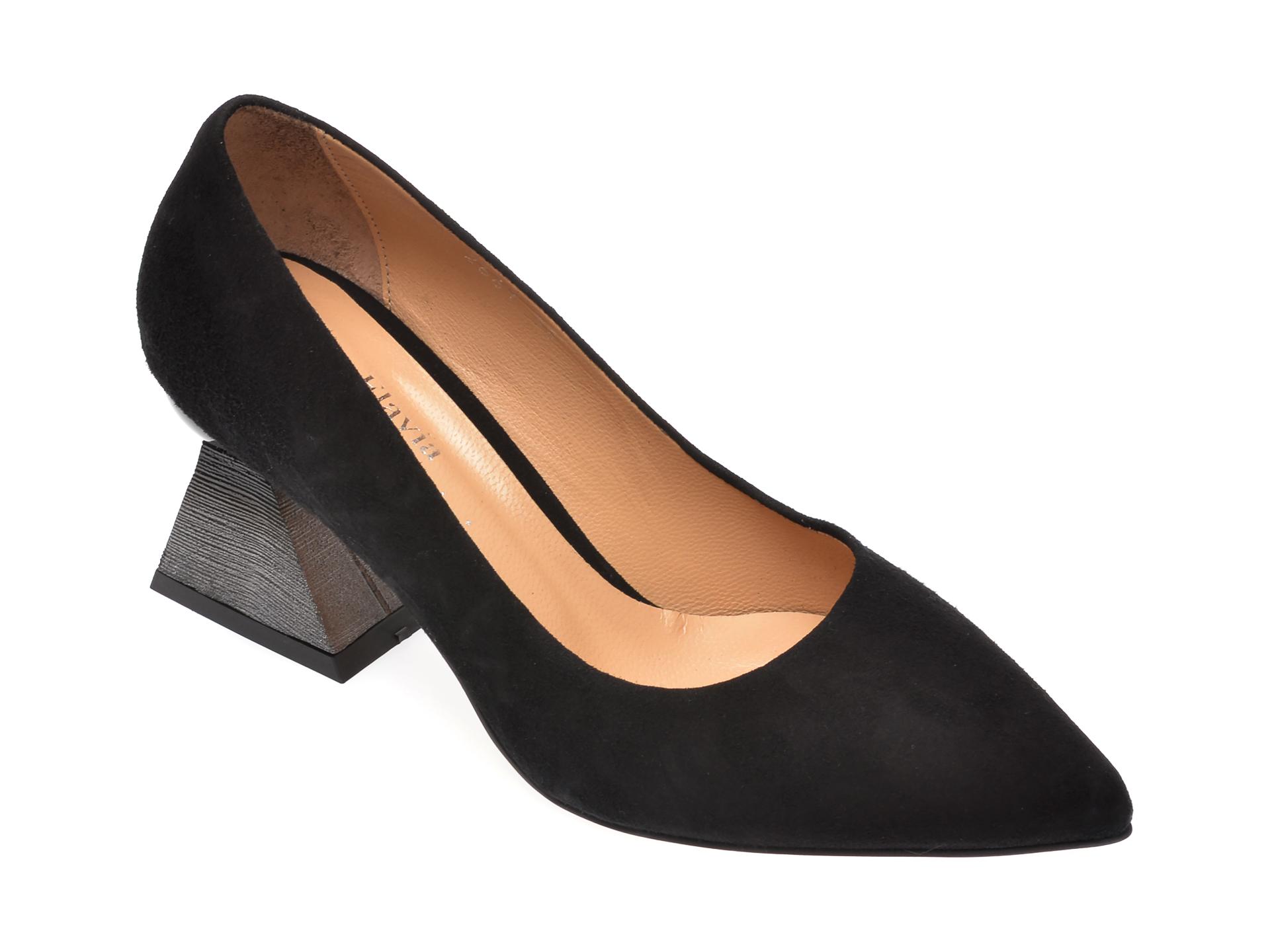 Pantofi FLAVIA PASSINI negri, 266120N, din piele intoarsa