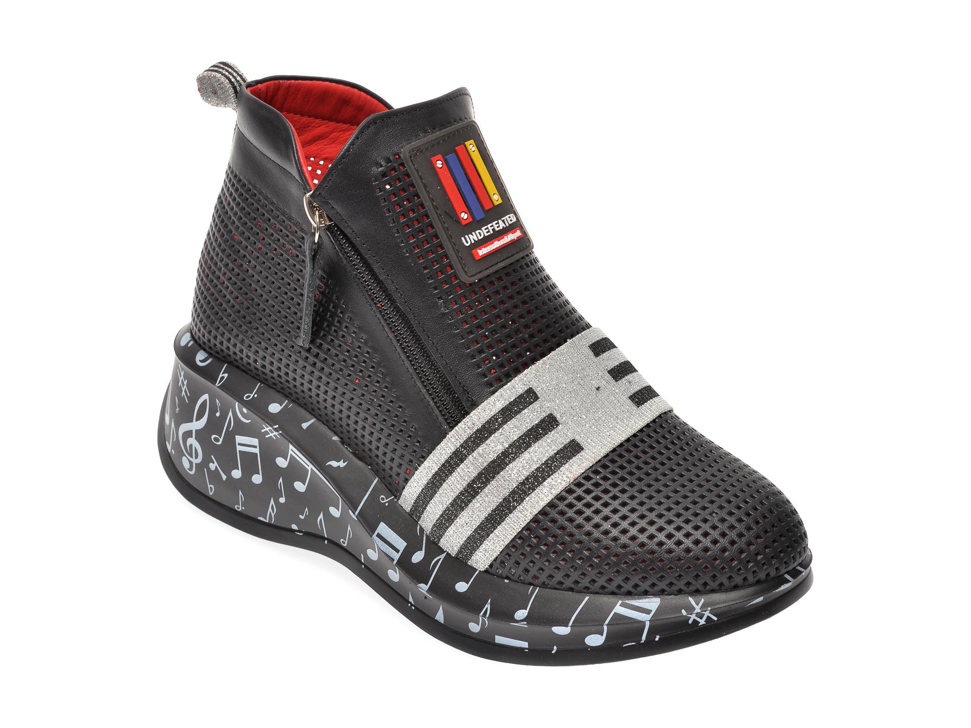 Pantofi FLAVIA PASSINI negri, 2845930, din piele naturala imagine