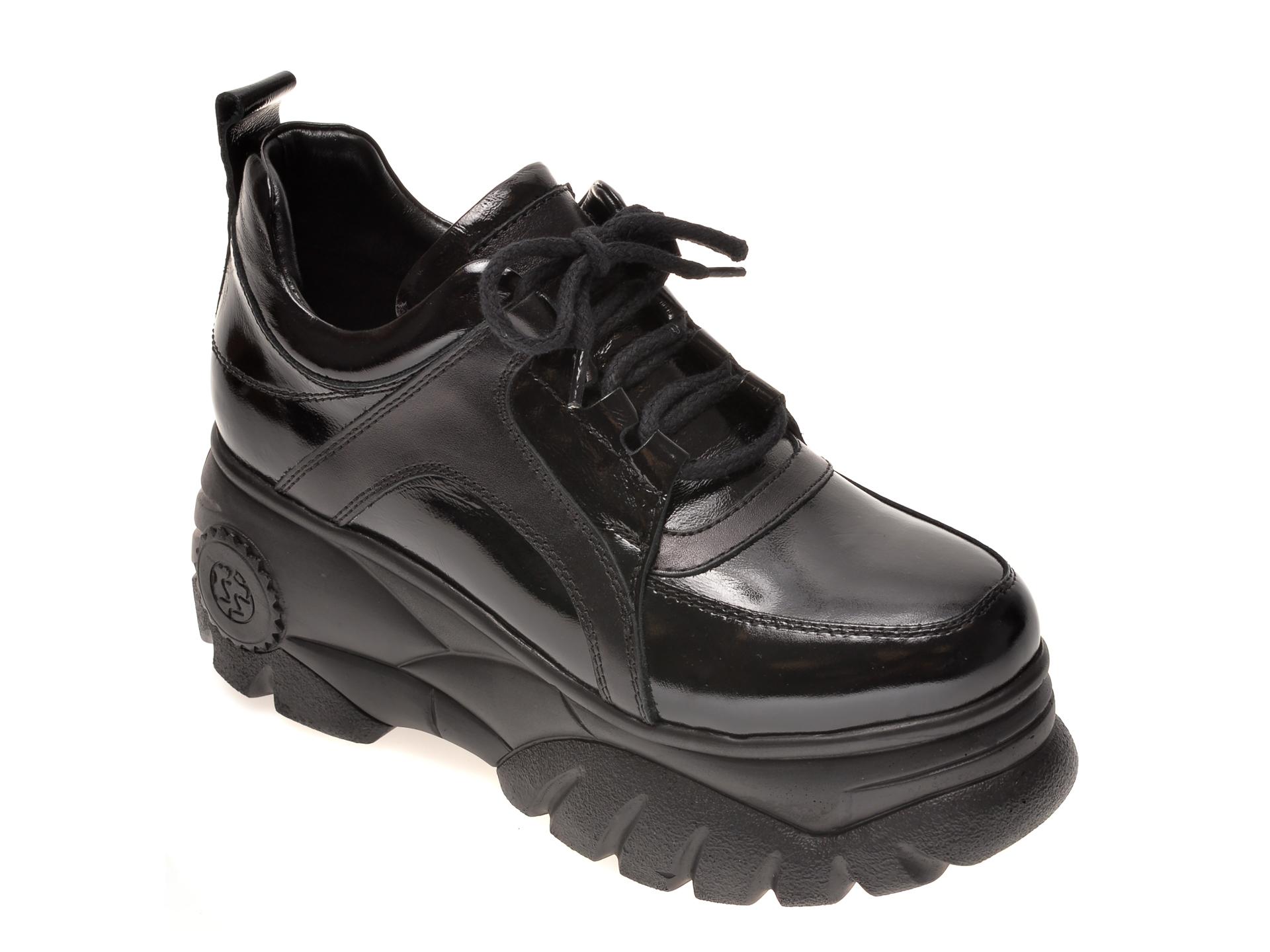 Pantofi FLAVIA PASSINI negri, 290267, din piele naturala lacuita