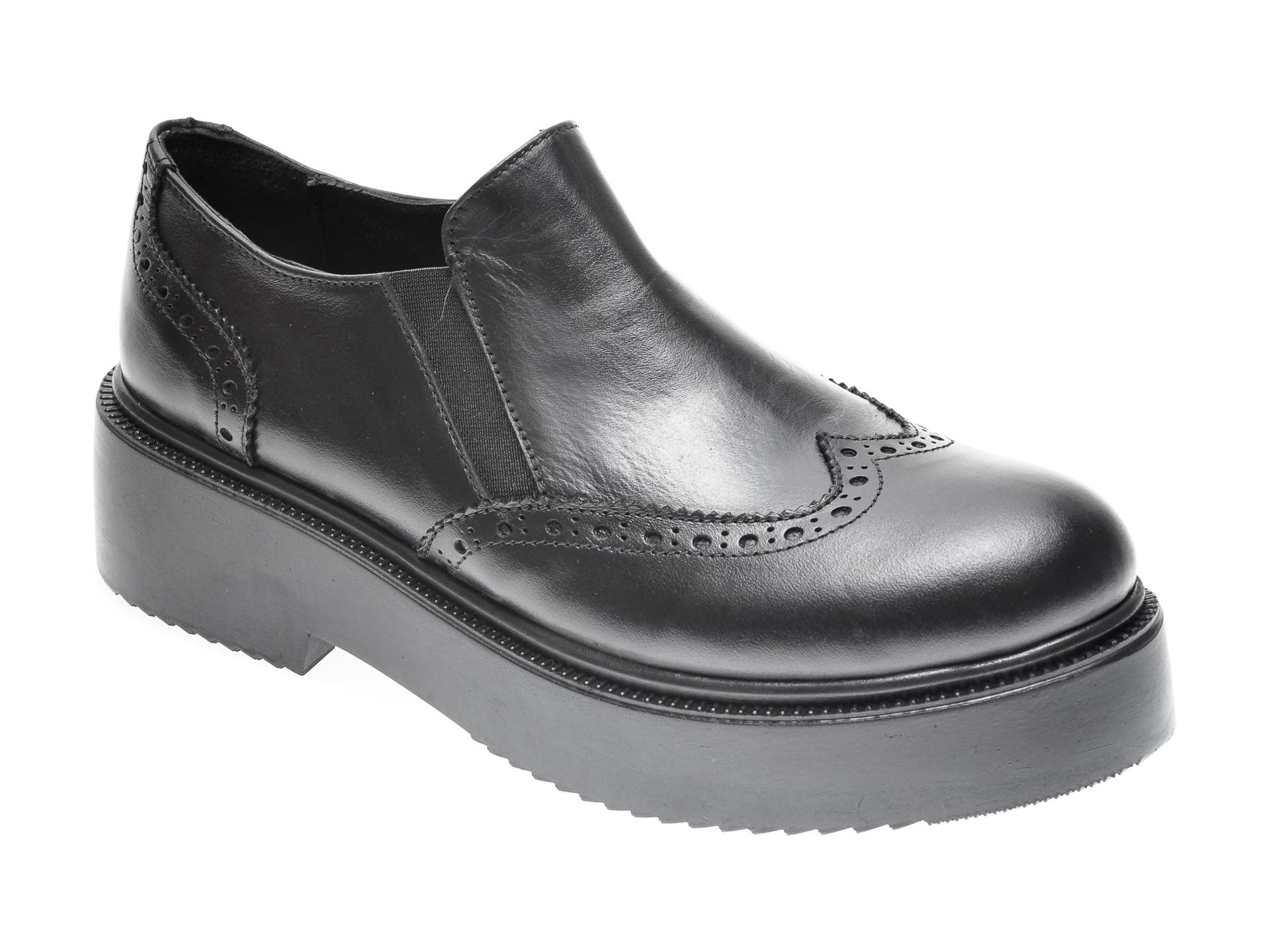 Pantofi FLAVIA PASSINI negri, 294333, din piele naturala imagine