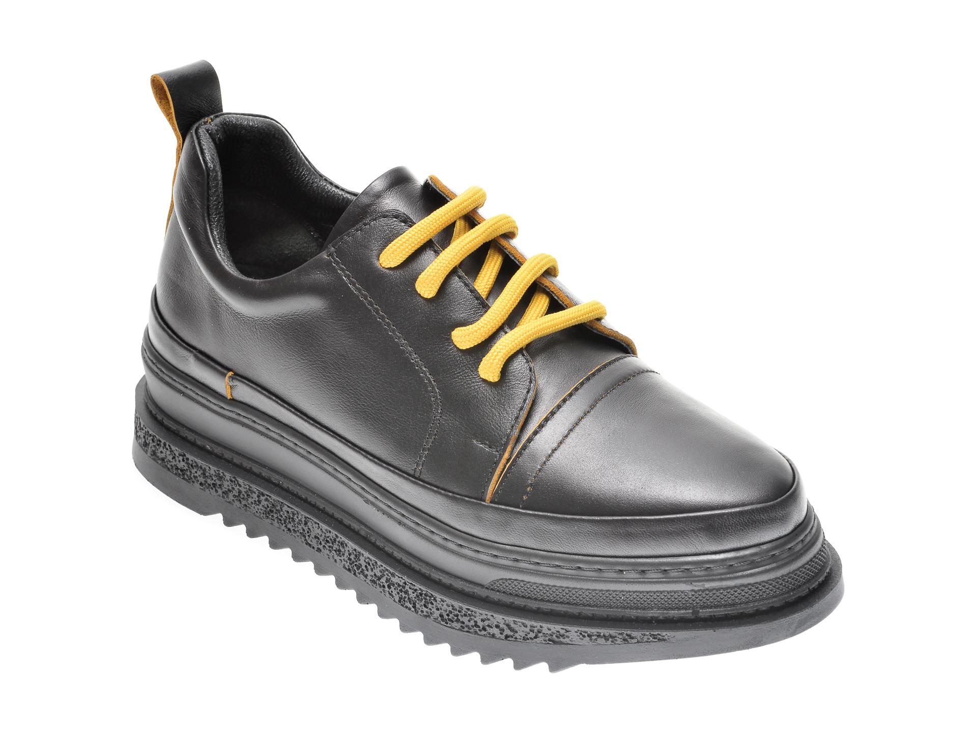 Pantofi FLAVIA PASSINI negri, 2947278, din piele naturala imagine