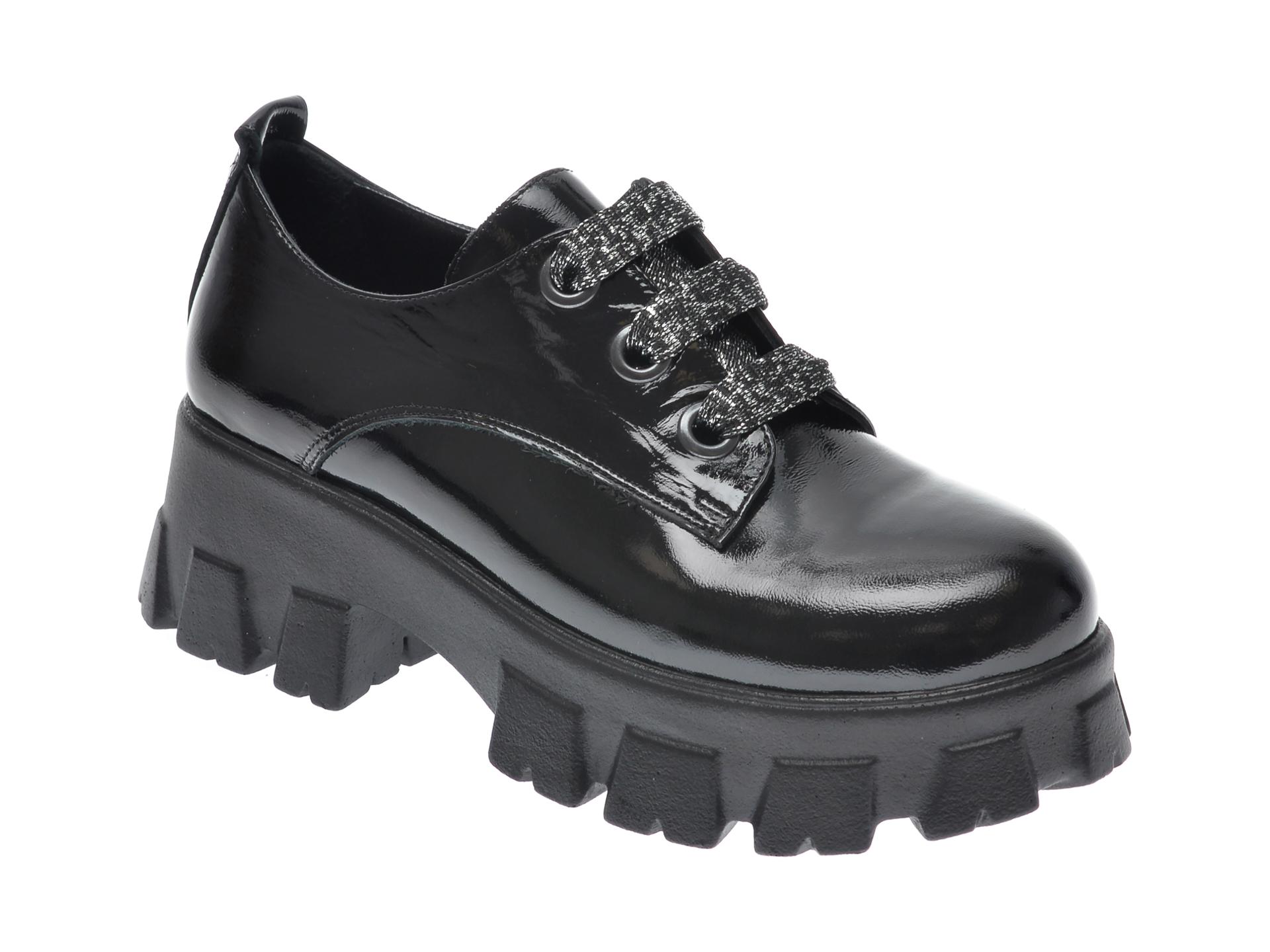 Pantofi FLAVIA PASSINI negri, 3450, din piele naturala lacuita imagine