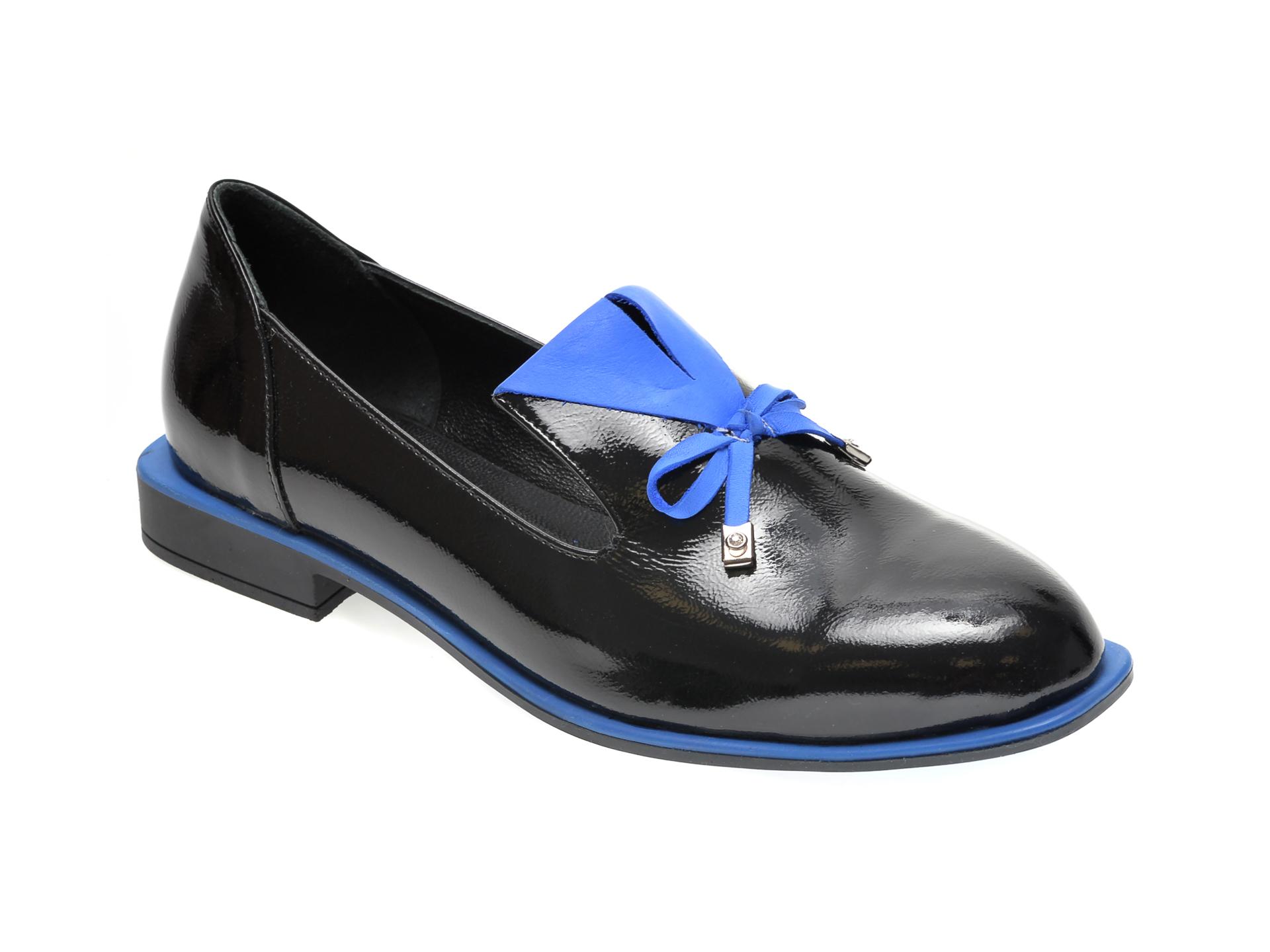 Pantofi FLAVIA PASSINI negri, 372029, din piele naturala lacuita New