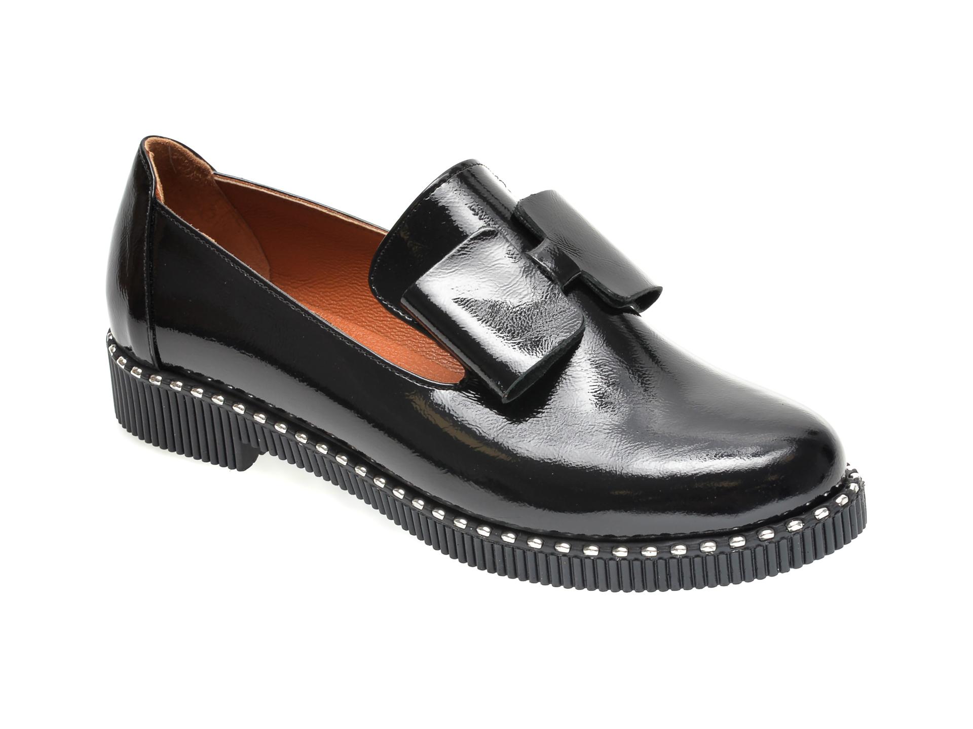 Pantofi FLAVIA PASSINI negri, 37804, din piele naturala lacuita