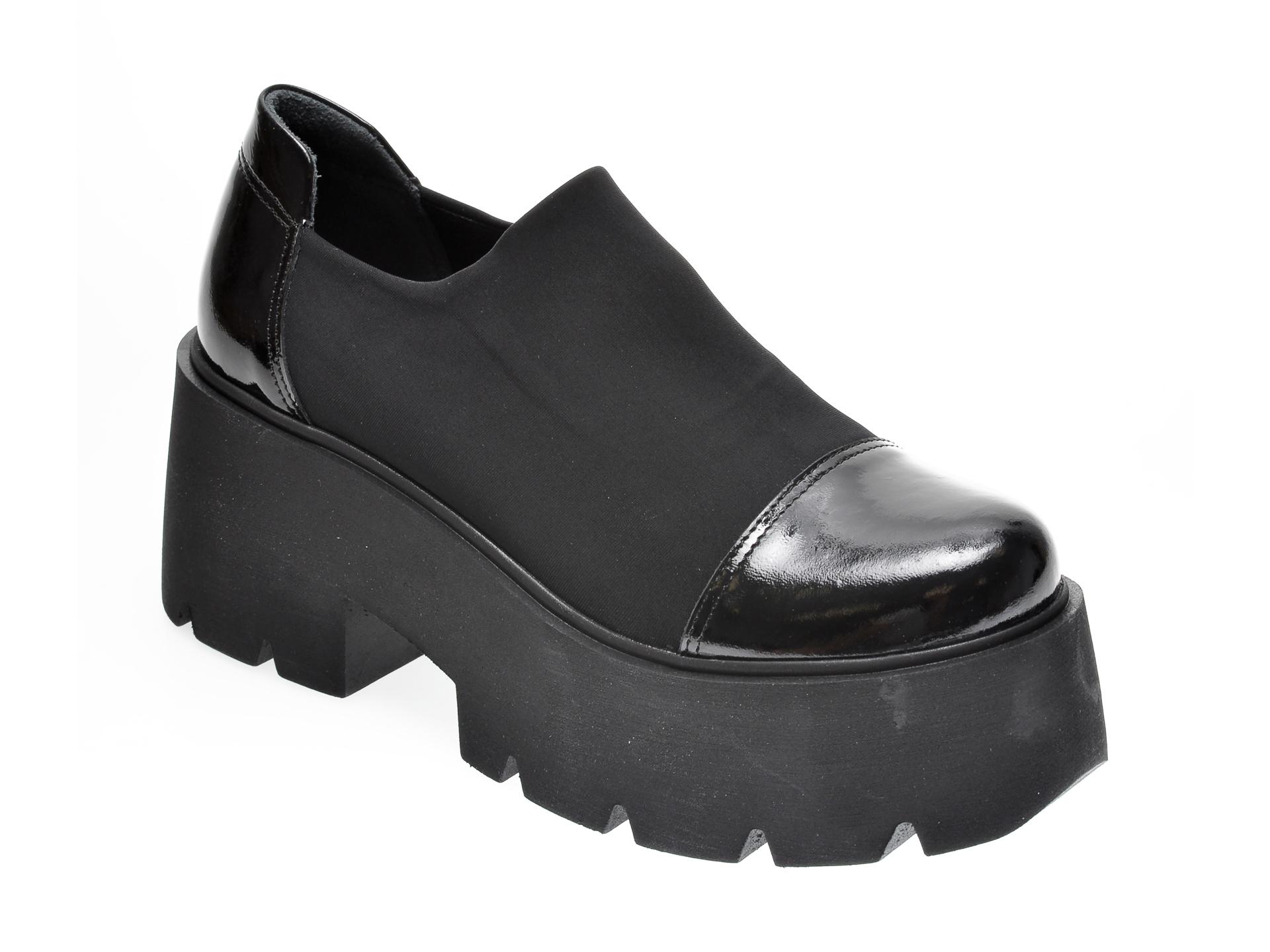 Pantofi FLAVIA PASSINI negri, 420513, din material textil imagine
