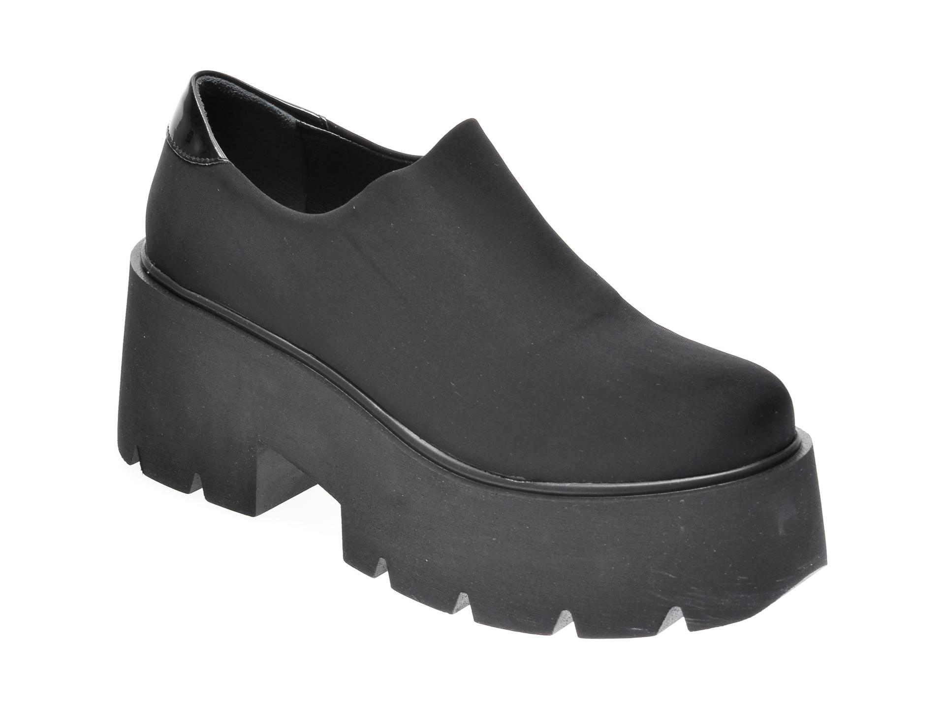 Pantofi FLAVIA PASSINI negri, 420515, din material textil imagine