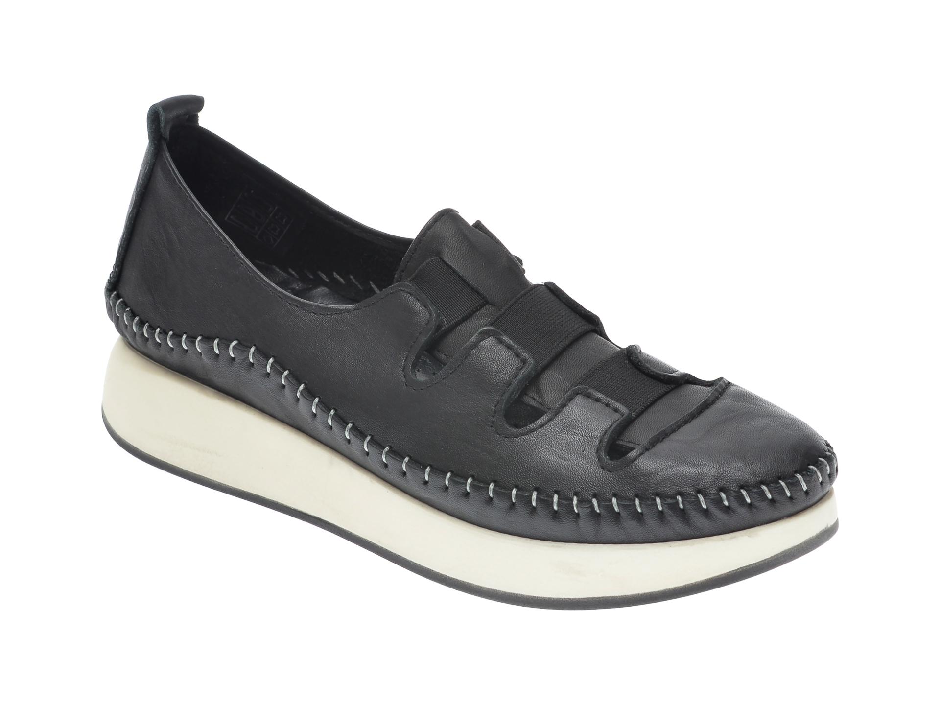 Pantofi FLAVIA PASSINI negri, 422, din piele naturala imagine otter.ro