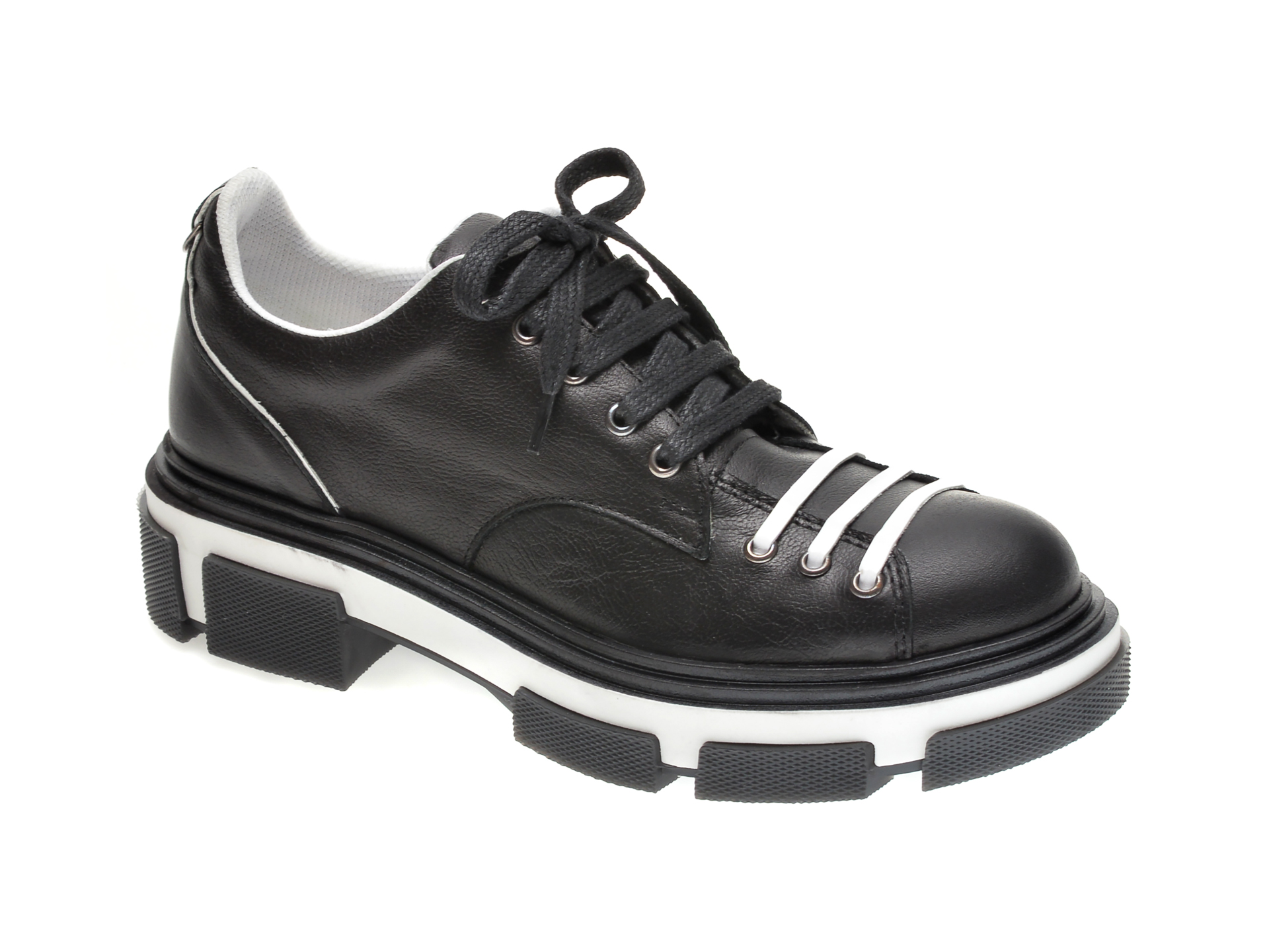 Pantofi FLAVIA PASSINI negri, 4402901, din piele naturala imagine
