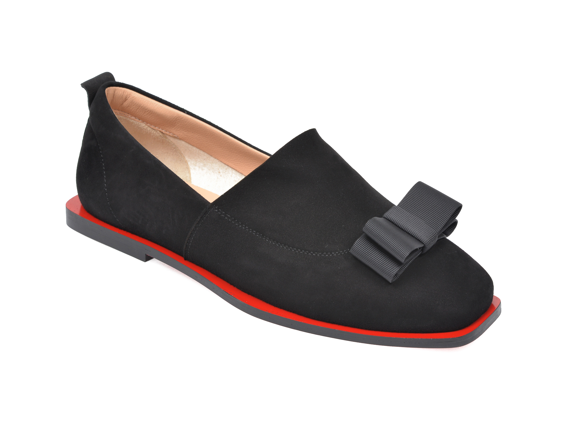 Pantofi FLAVIA PASSINI negri, 4582230, din piele intoarsa imagine