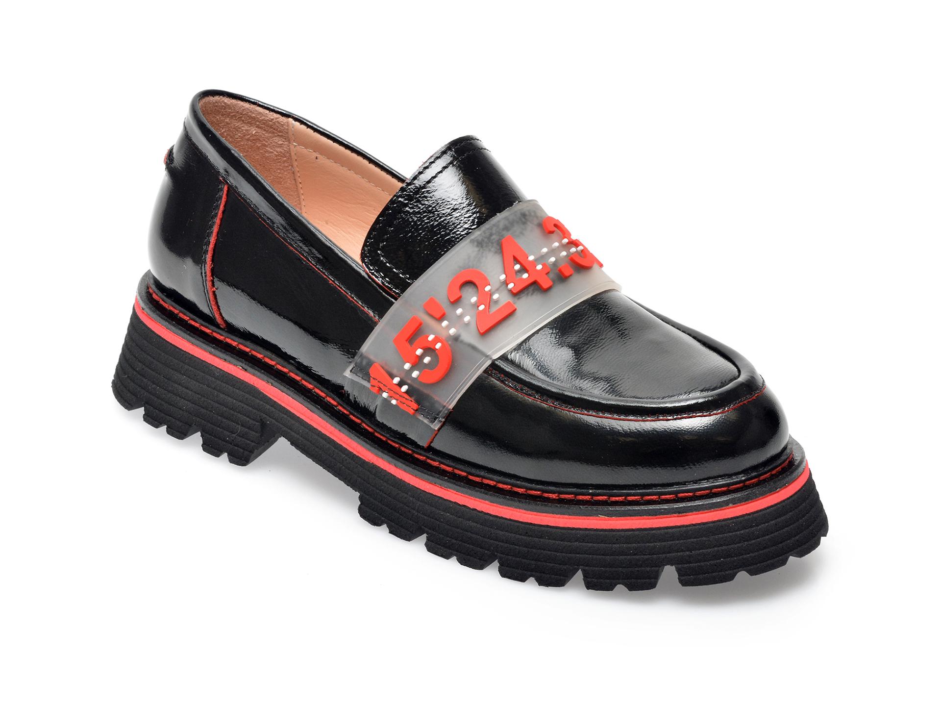 Pantofi FLAVIA PASSINI negri, 471728, din piele naturala lacuita imagine otter.ro 2021