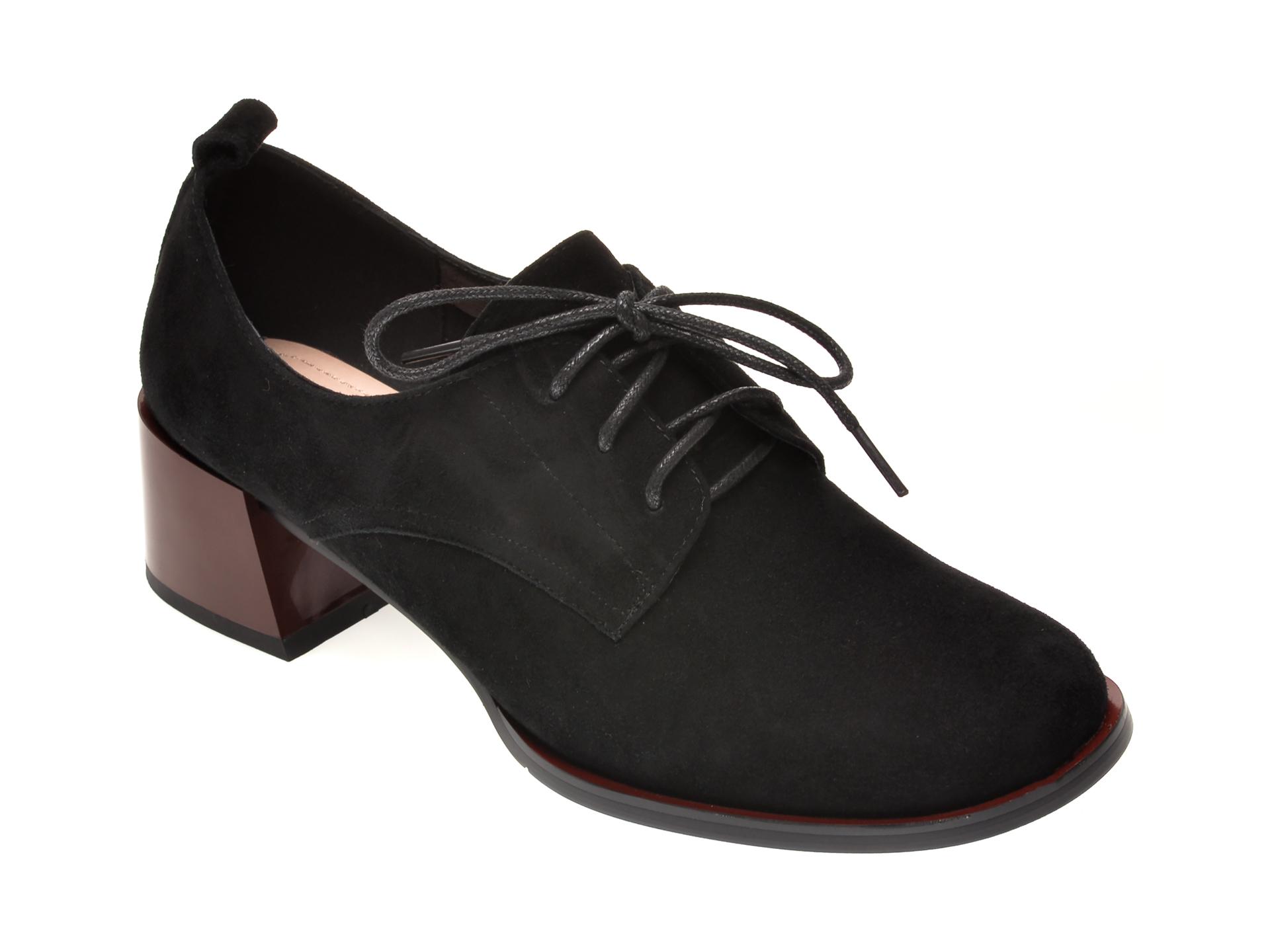 Pantofi FLAVIA PASSINI negri, 5008502, din piele intoarsa imagine