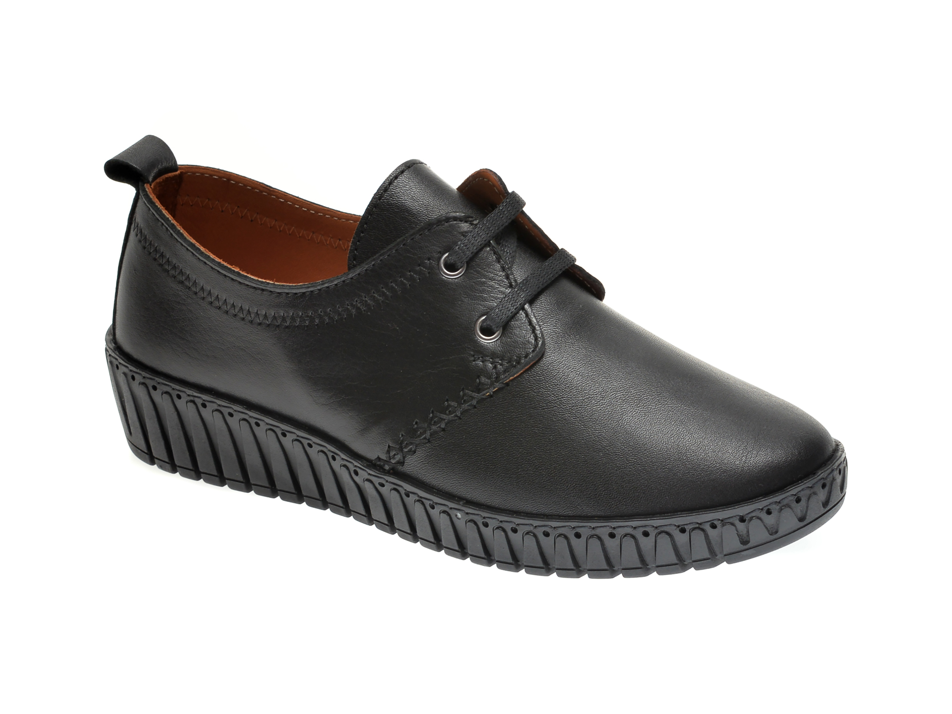 Pantofi FLAVIA PASSINI negri, 52308, din piele naturala imagine
