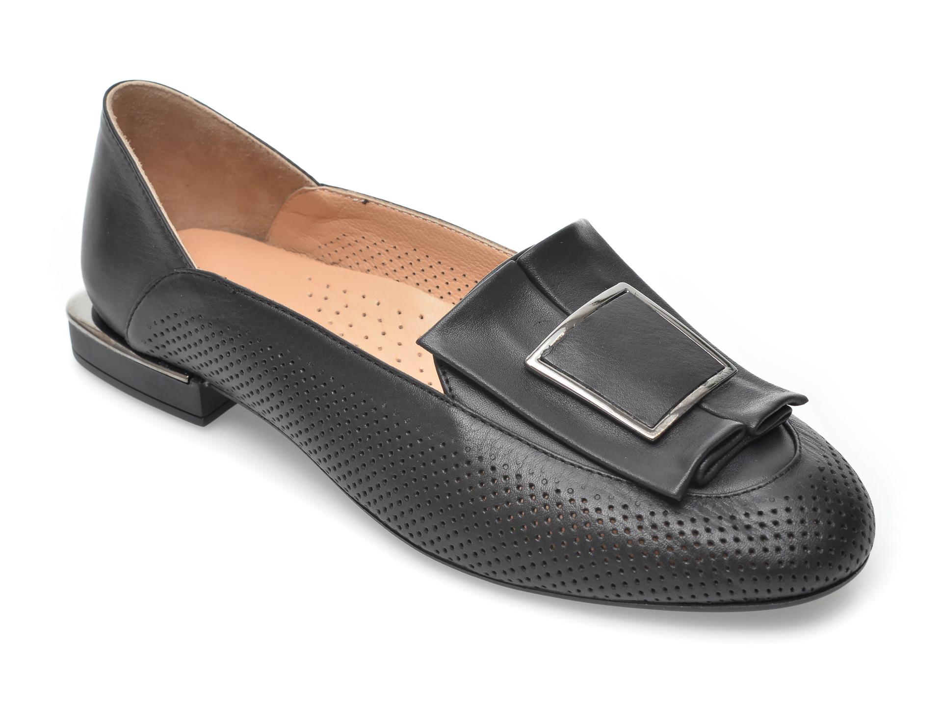 Pantofi FLAVIA PASSINI negri, 5236, din piele naturala imagine otter.ro