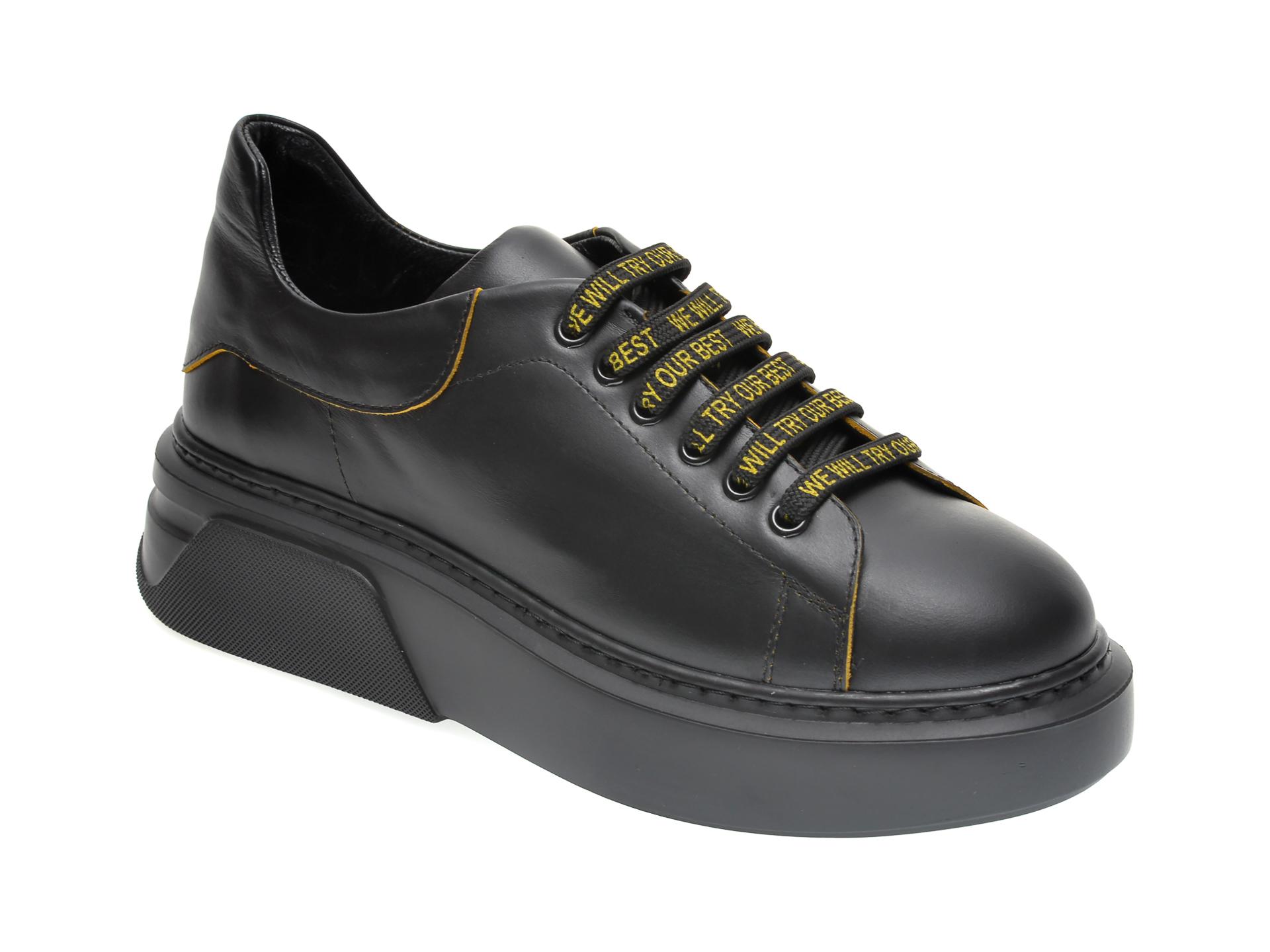 Pantofi FLAVIA PASSINI negri, 541072, din piele naturala imagine