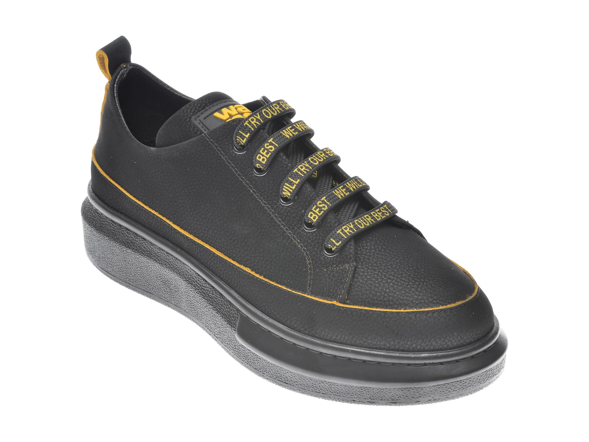Pantofi FLAVIA PASSINI negri, 541471, din nabuc imagine