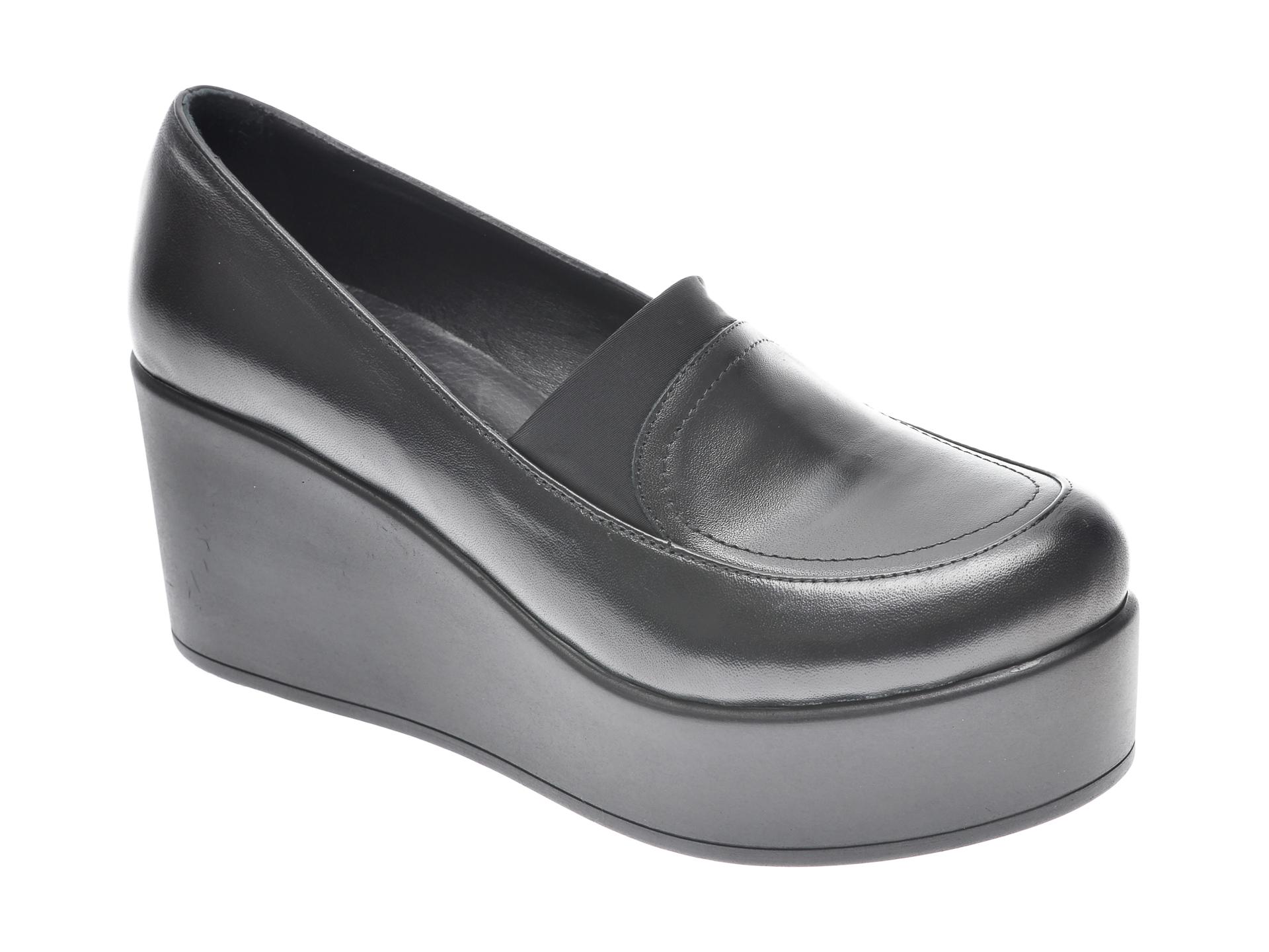 Pantofi FLAVIA PASSINI negri, 6292167, din piele naturala imagine